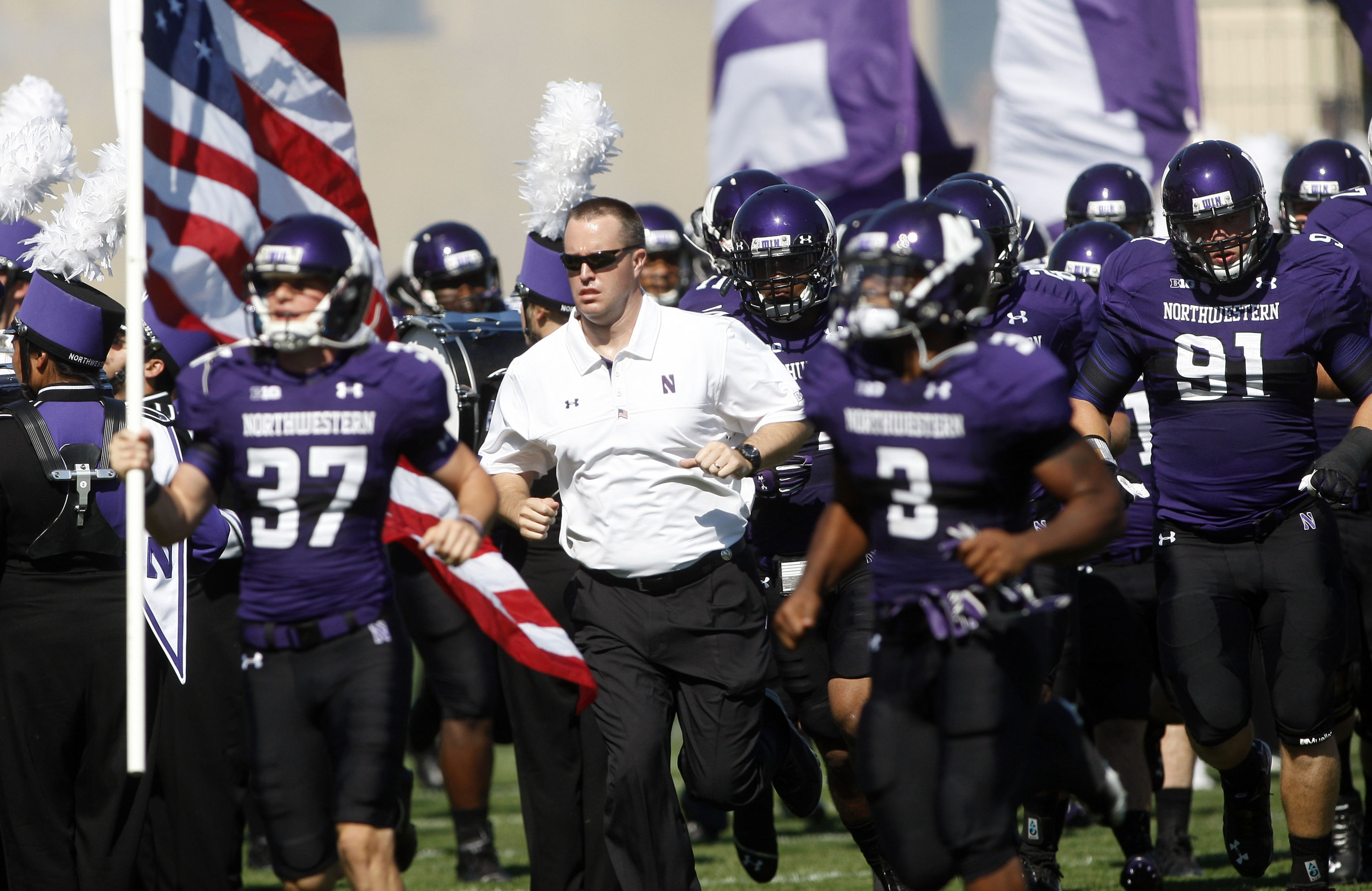 Here comes Northwestern - get in the way at your own risk.