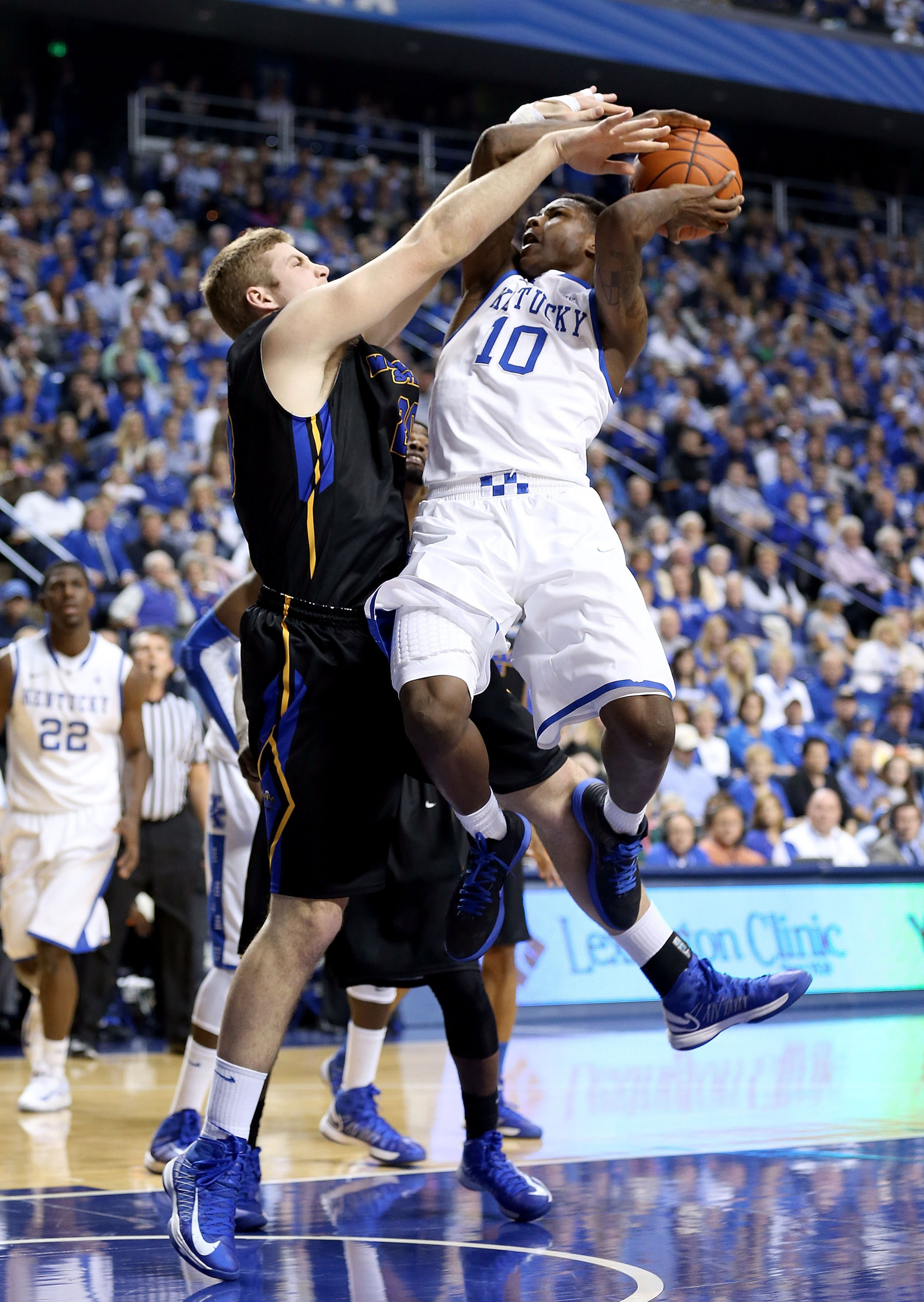 Chad Posthumus drawing a charge against UK.