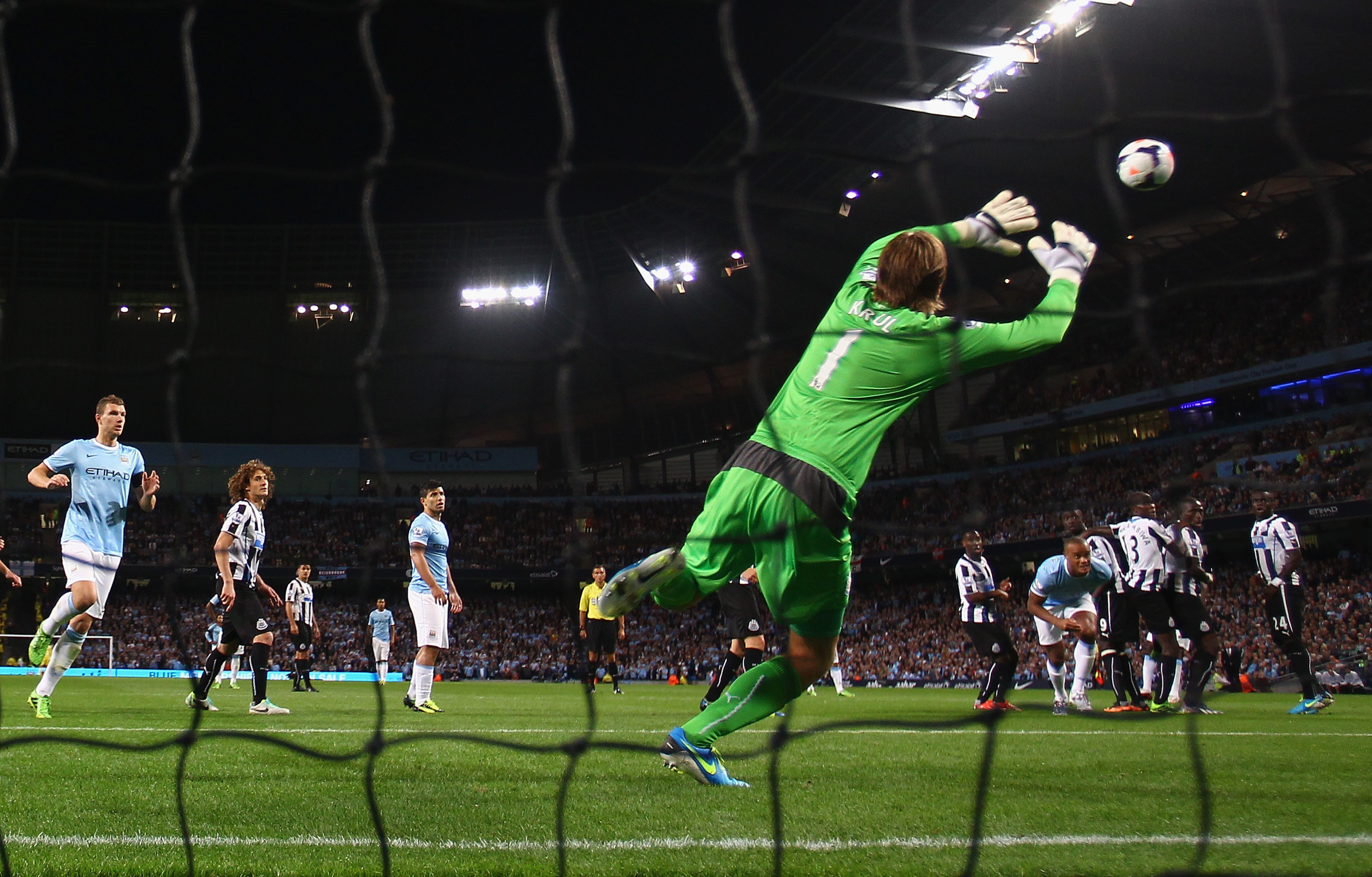 Tim Krul was named Man of the Match for making several difficult saves against Manchester City.