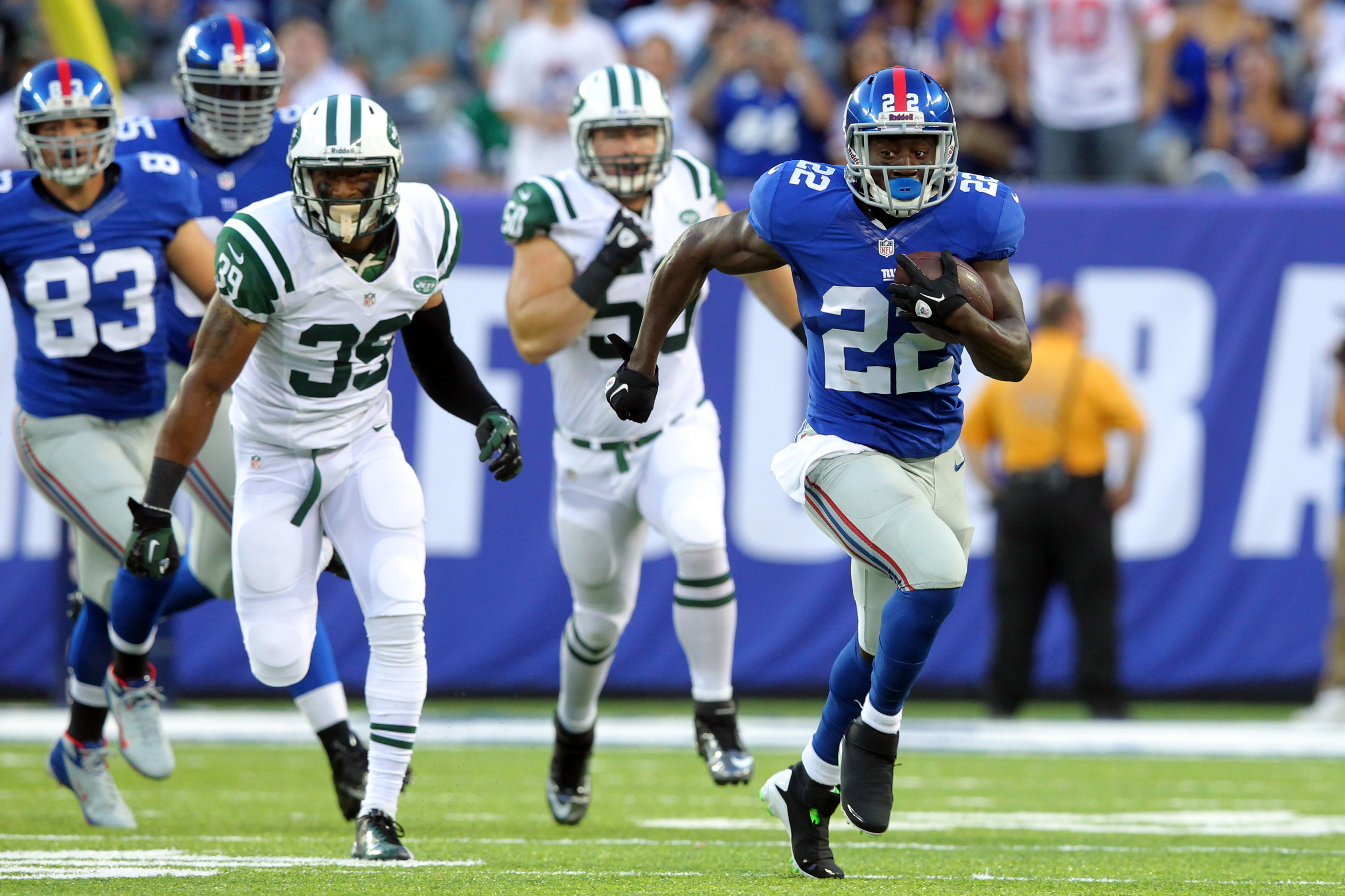 David Wilson goes 84 yards for a touchdown.
