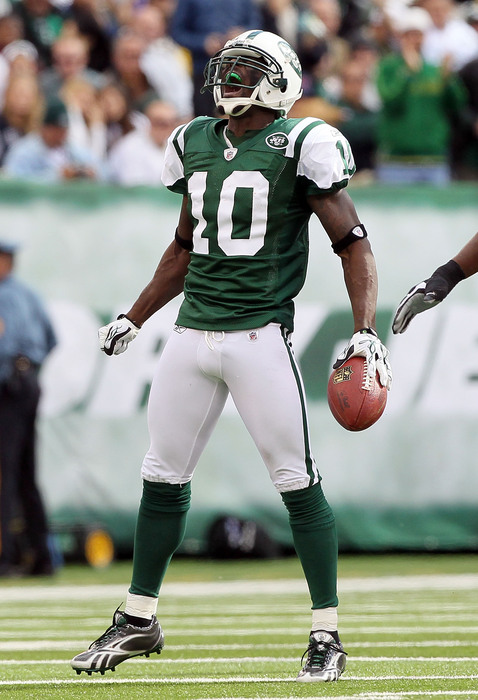 Santonio Holmes returns to Jets practice for first time in 10 months