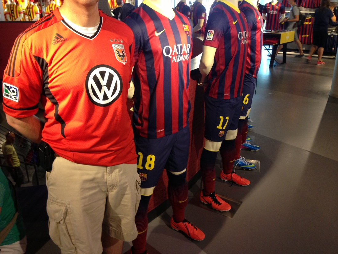 A lineup of champions (or at least of their jerseys).