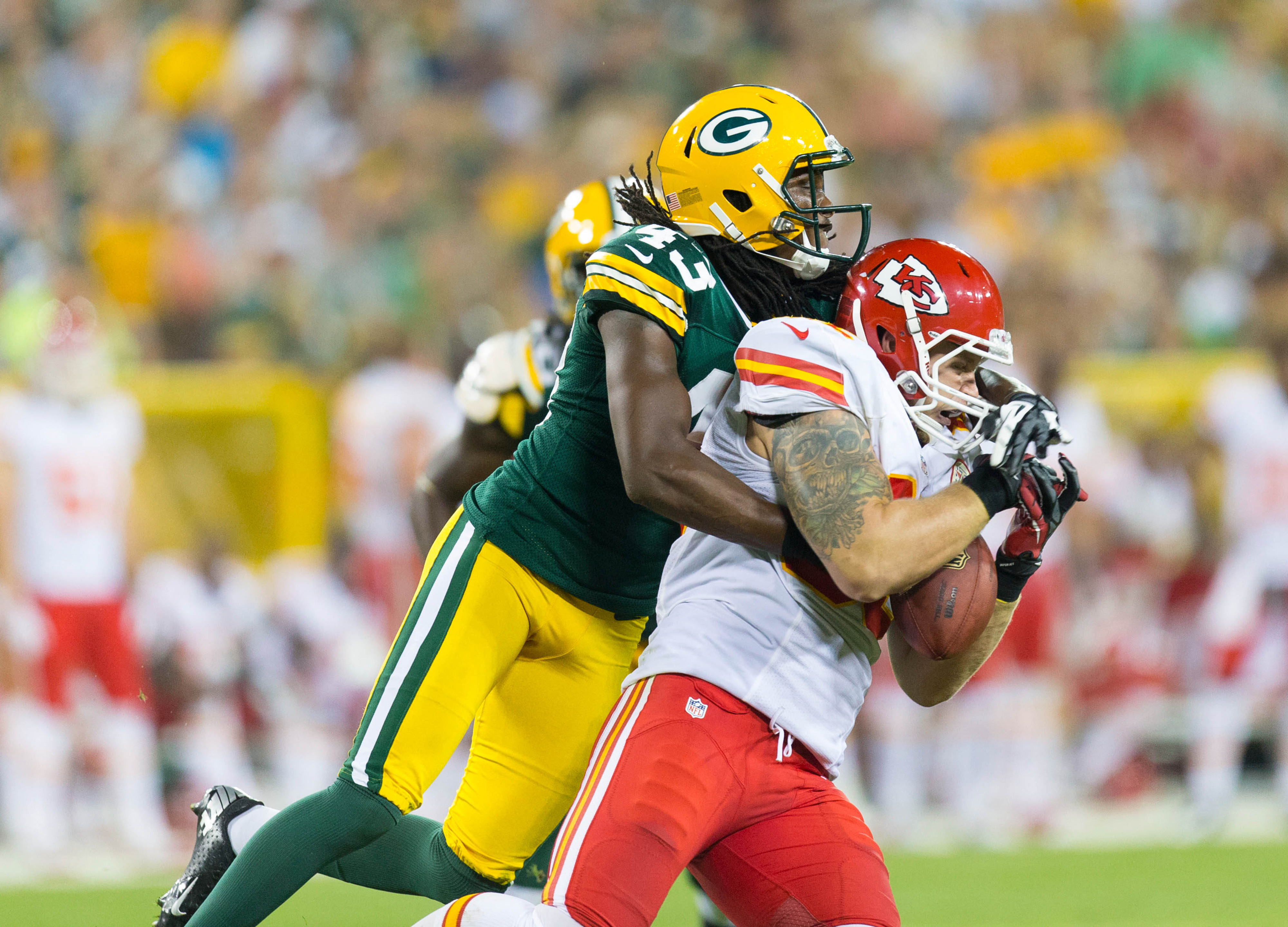 M.D. Jennings makes a tackle in last year's preseason game.