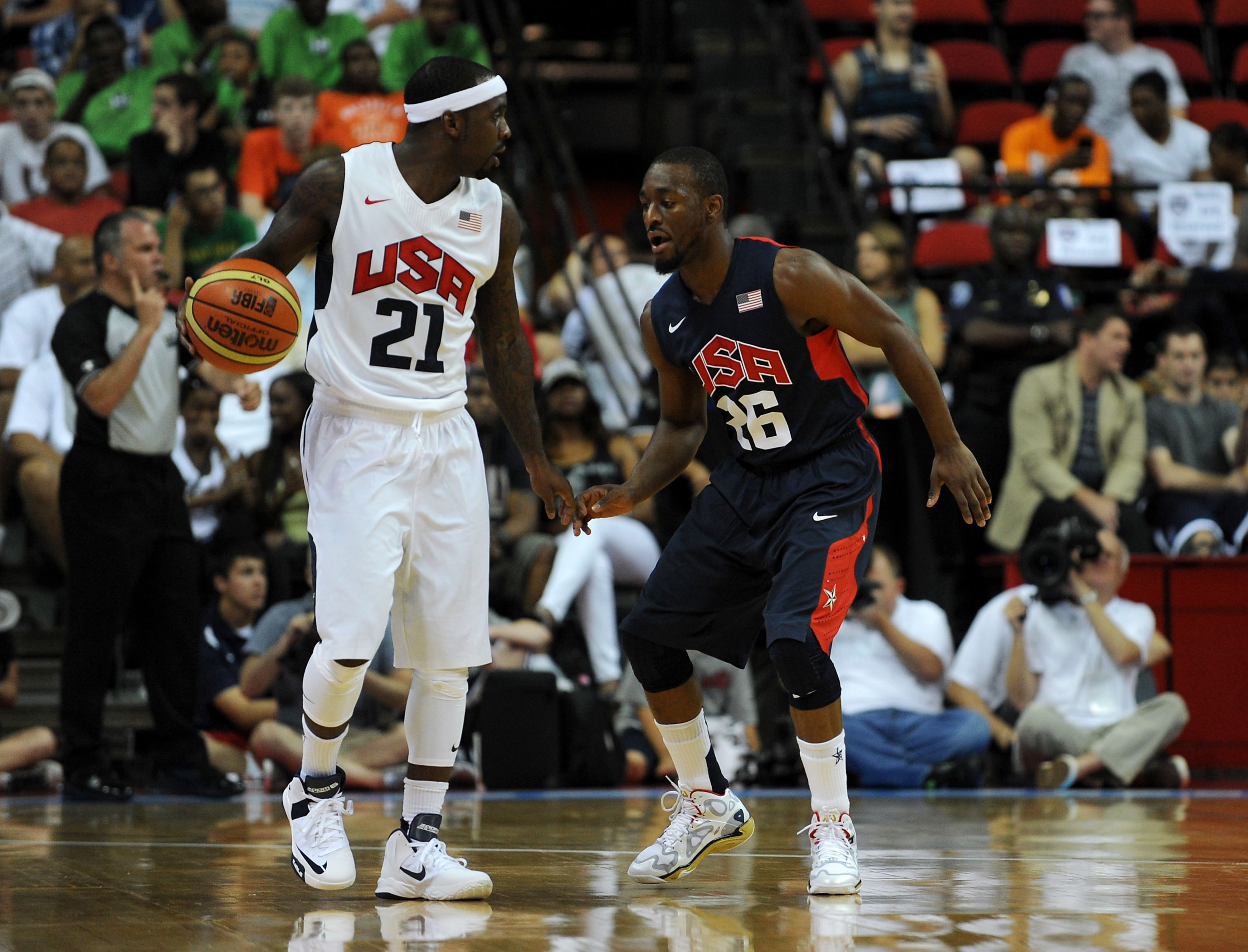 Ty Lawson at the Team USA mini-camp in Las Vegas in July 2013.