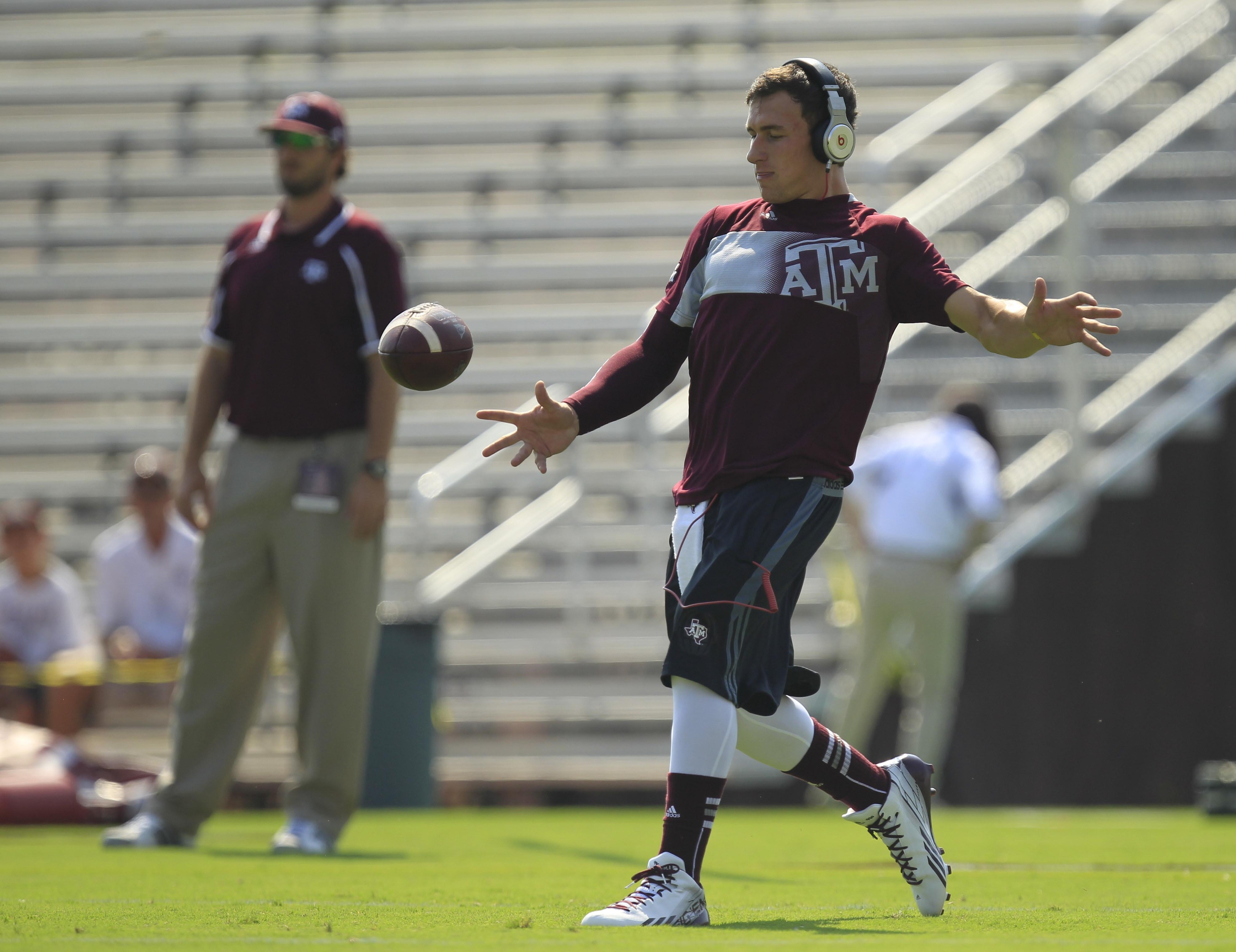 Part of Johnny Manziel's punishment is he must take part in special teams practice.