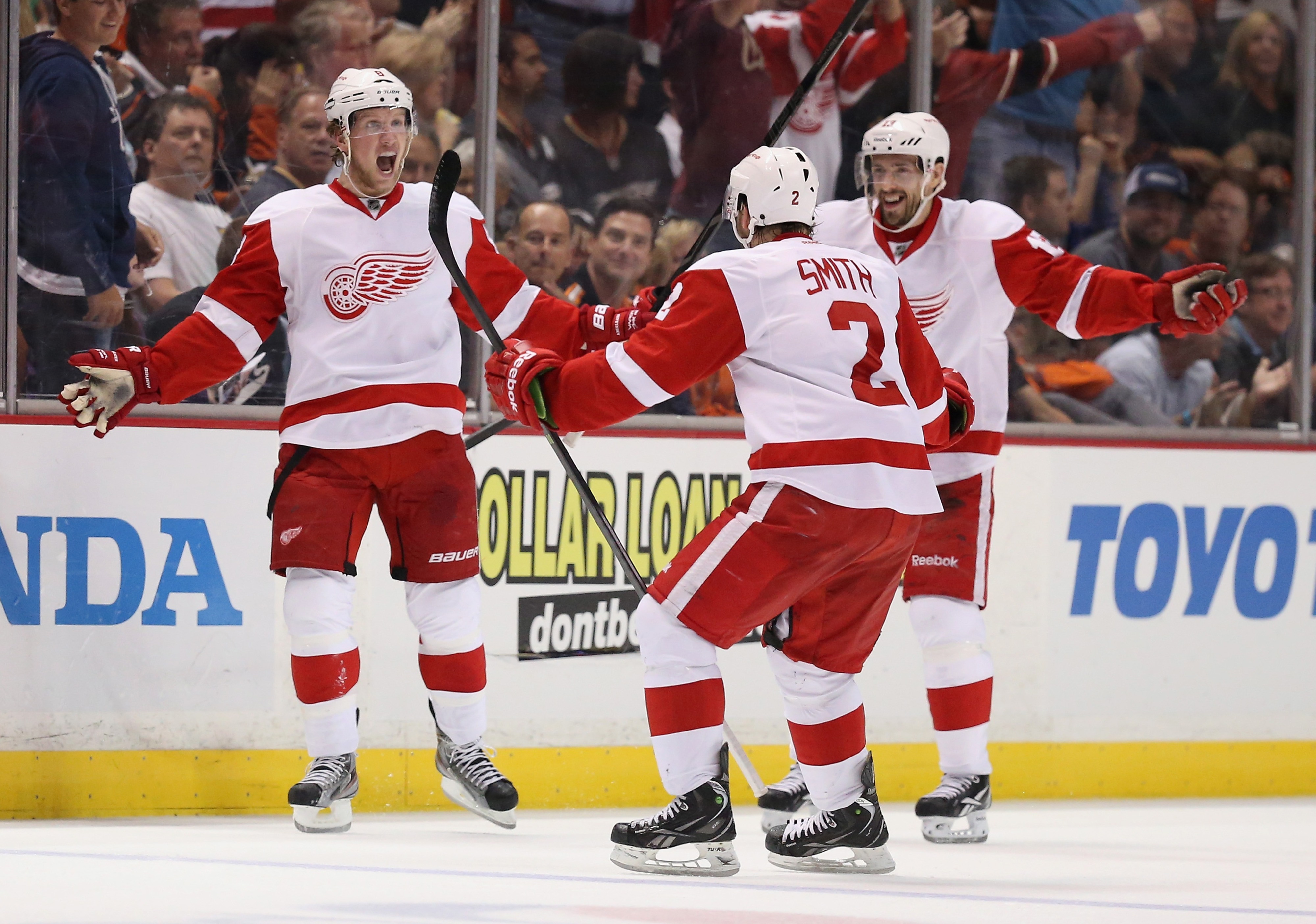 Datsyuk is reffing and I think he just called Brendan Smith safe