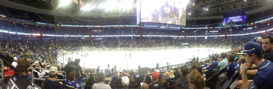 The 2013 Tampa Bay Lightning Fan Fest -- well, the first one in January 2013.