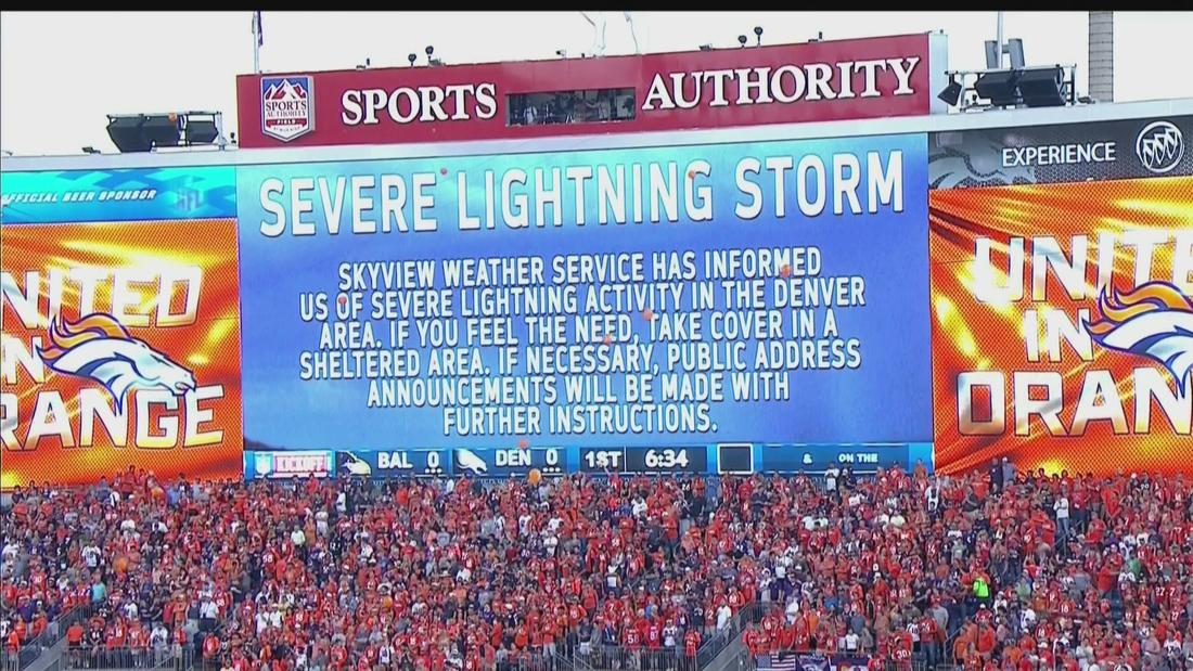 Ravens vs. Broncos in weather delay