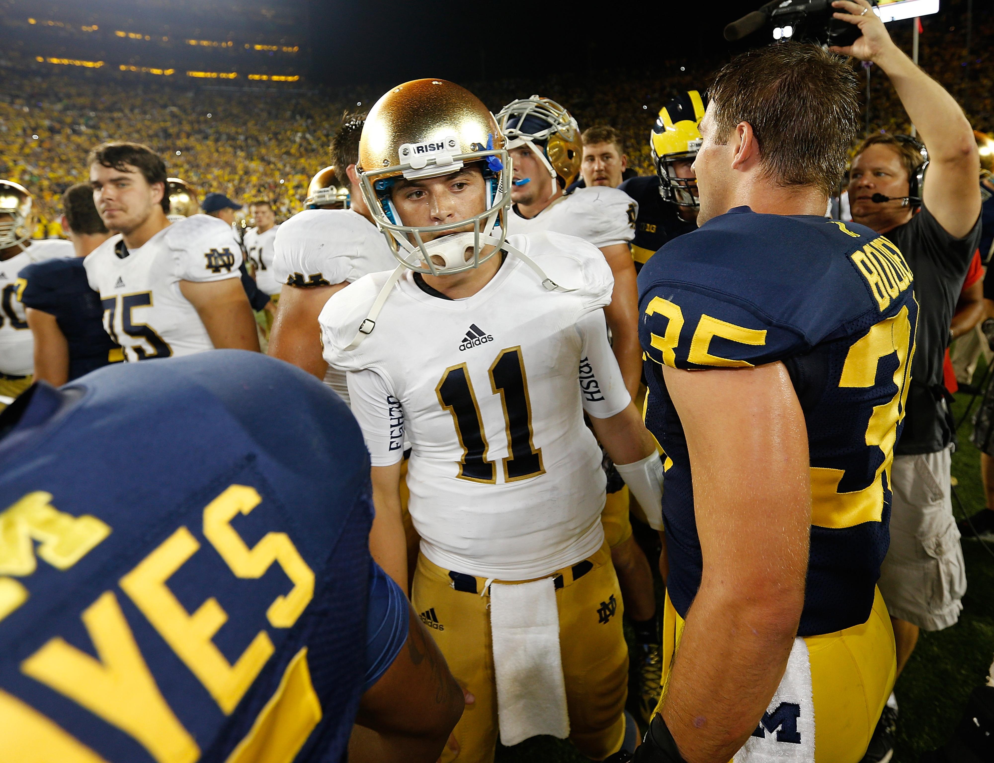 Tommy Rees, quarterback for Notre Dame.