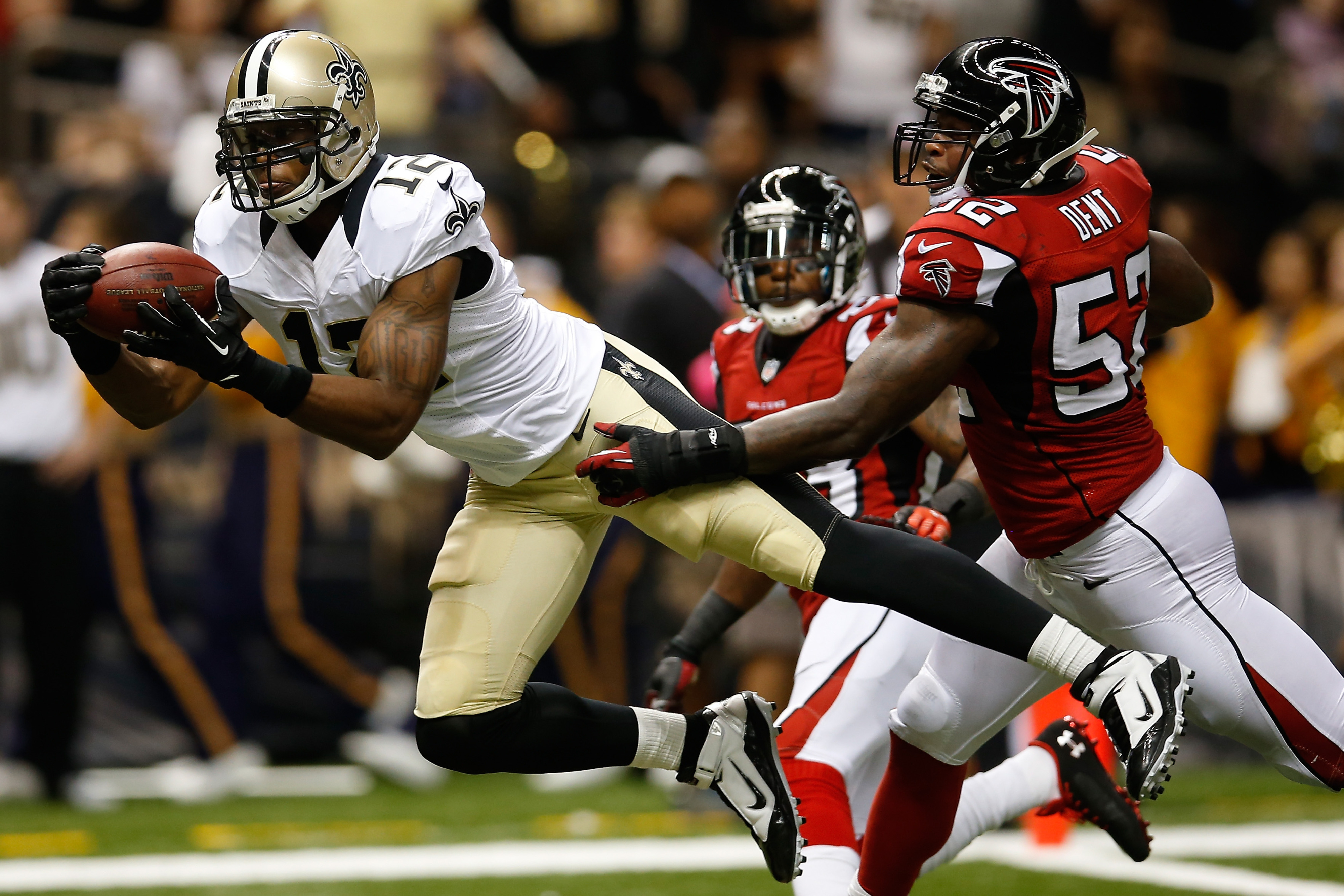 This is Colston's record-setting reception.