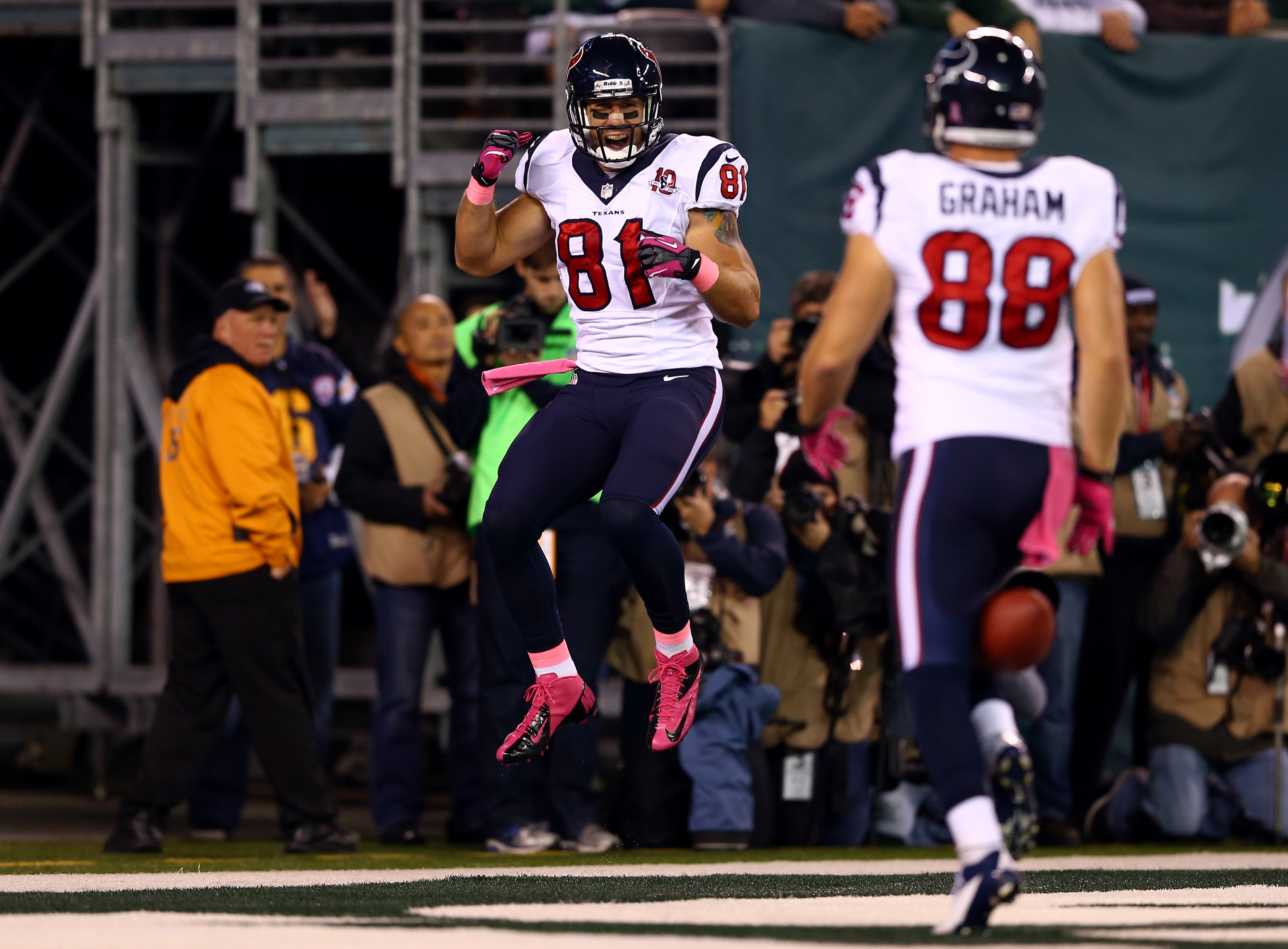 We're all jumping for joy that Houston Texans football is back, Owen.