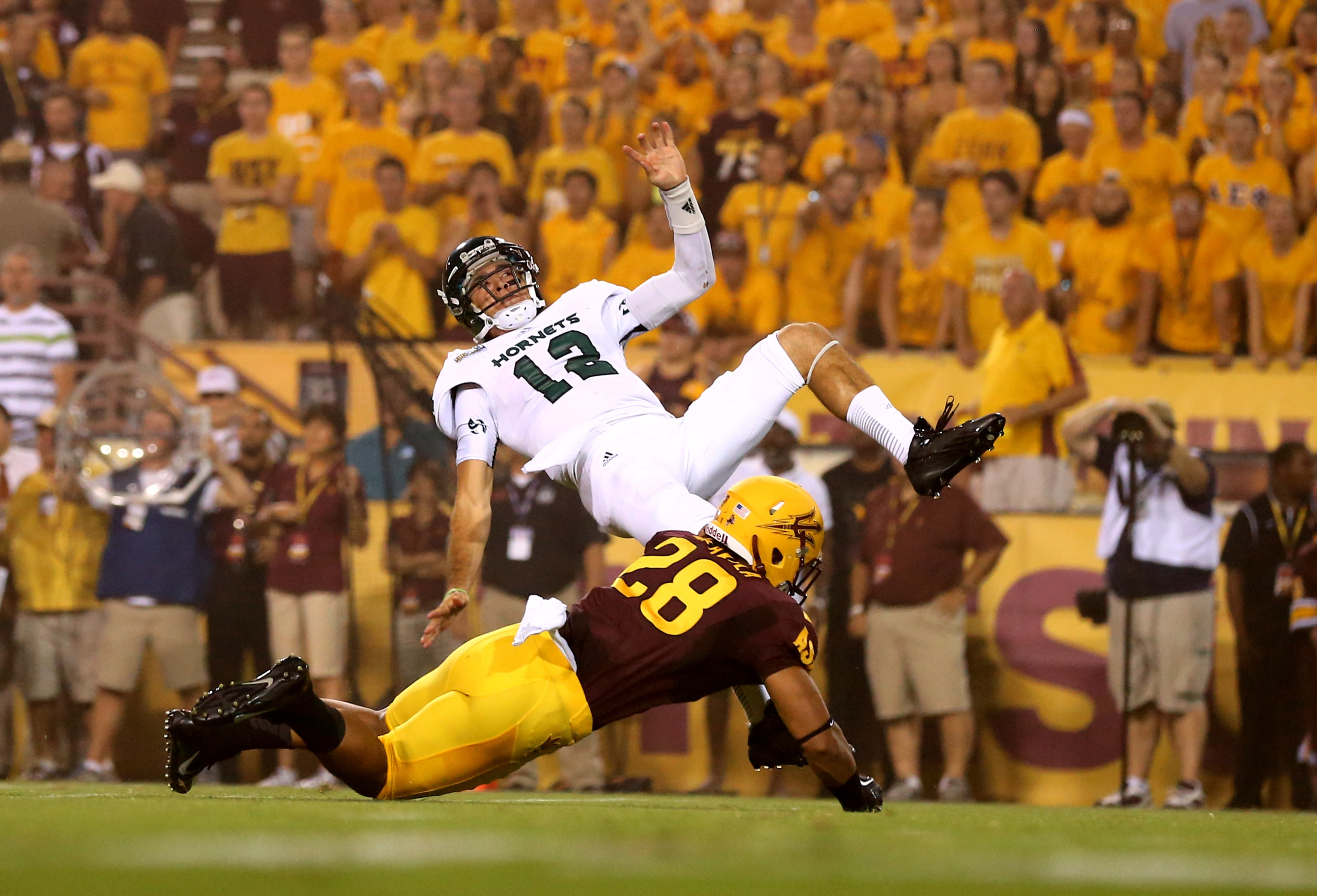 Laiu Moeakiola drew compliments from Todd Graham for his play on Thursday.