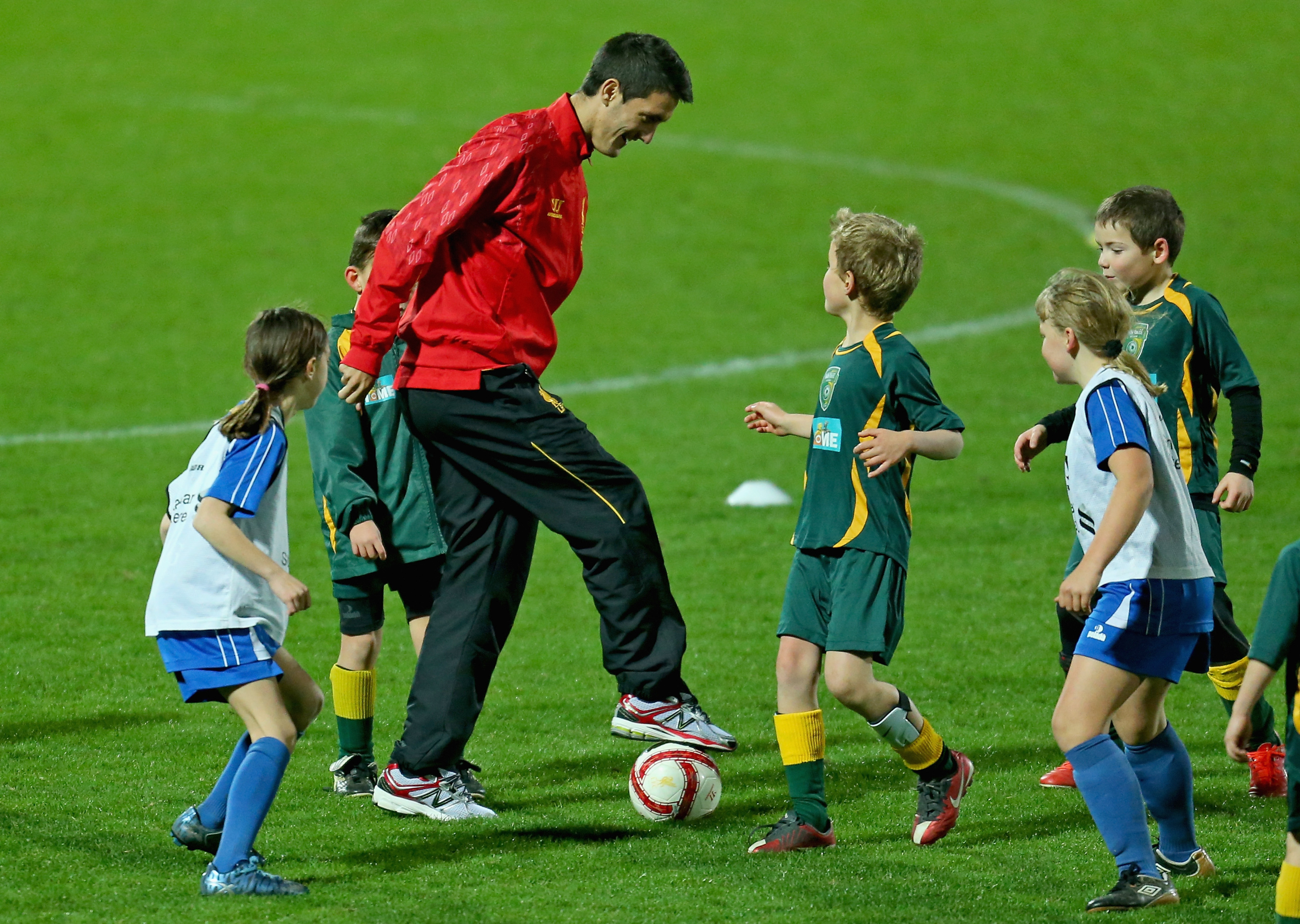 He can keep the ball away from FIVE little kids? Sign him up!