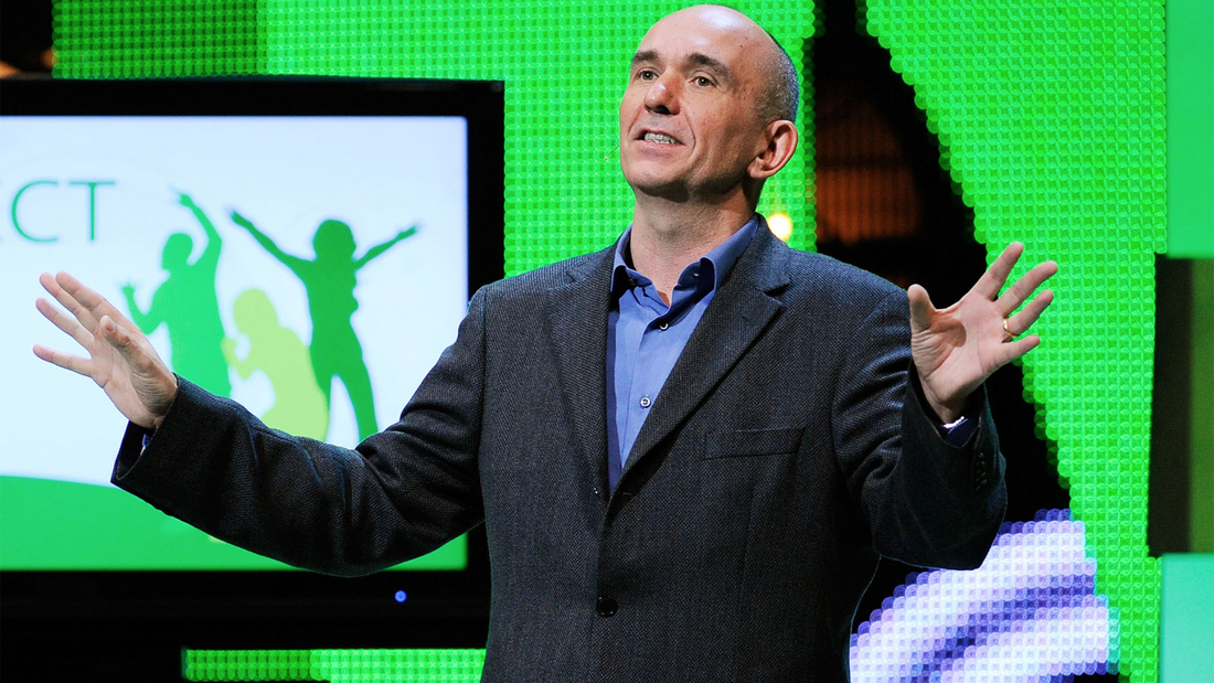 Molyneux and Microsoft's Phil Harrison speaking at this year's Eurogamer Expo in London