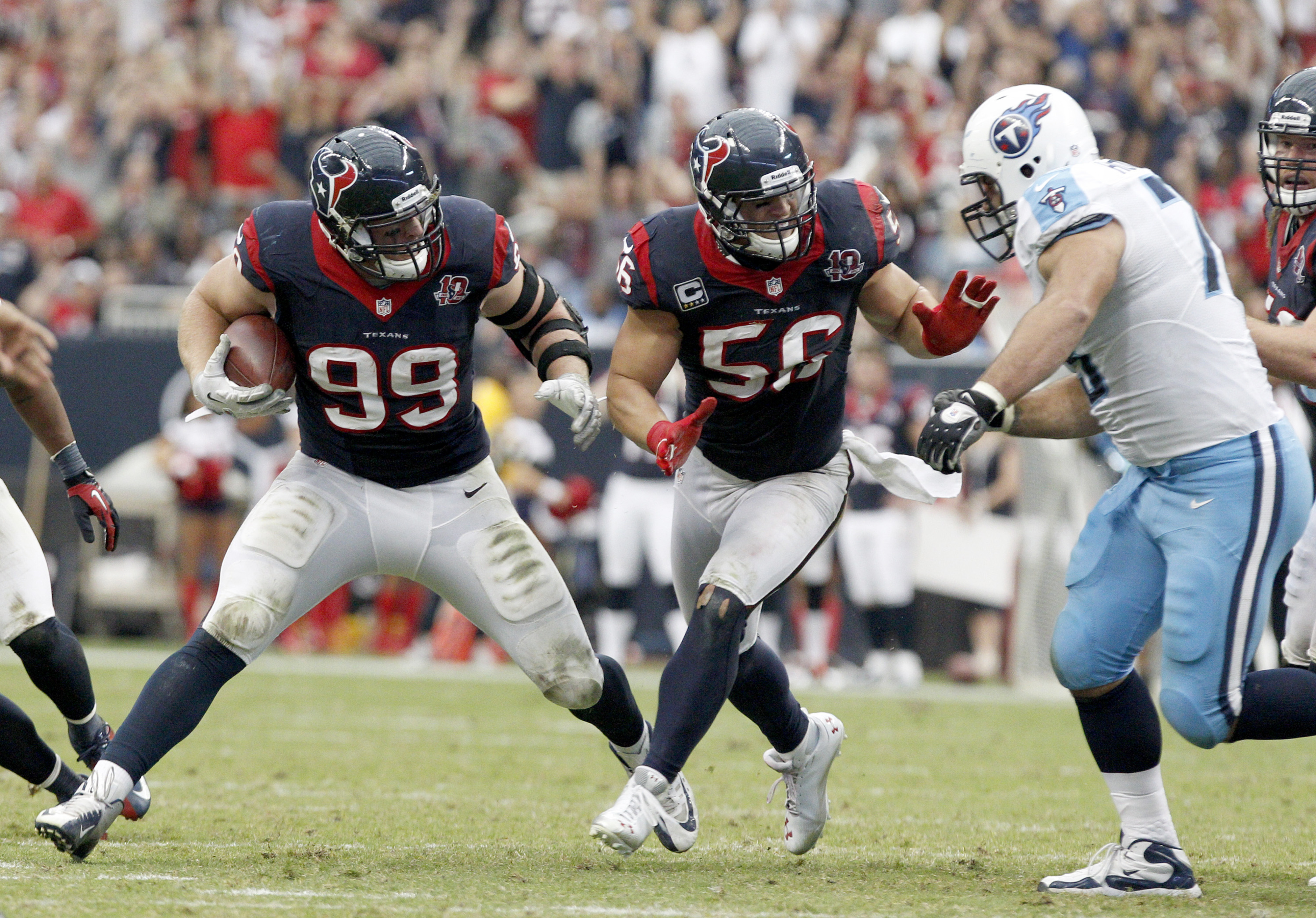 J.J. Watt with the football, and Brian Cushing as lead blocker.  Game over.