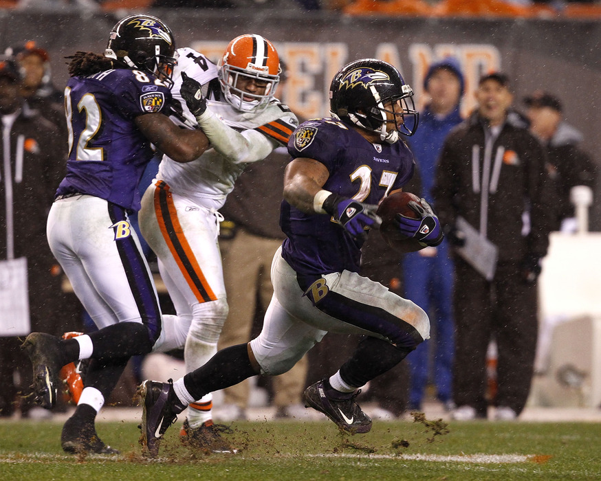 Ray Rice will look for another big day against the Browns.