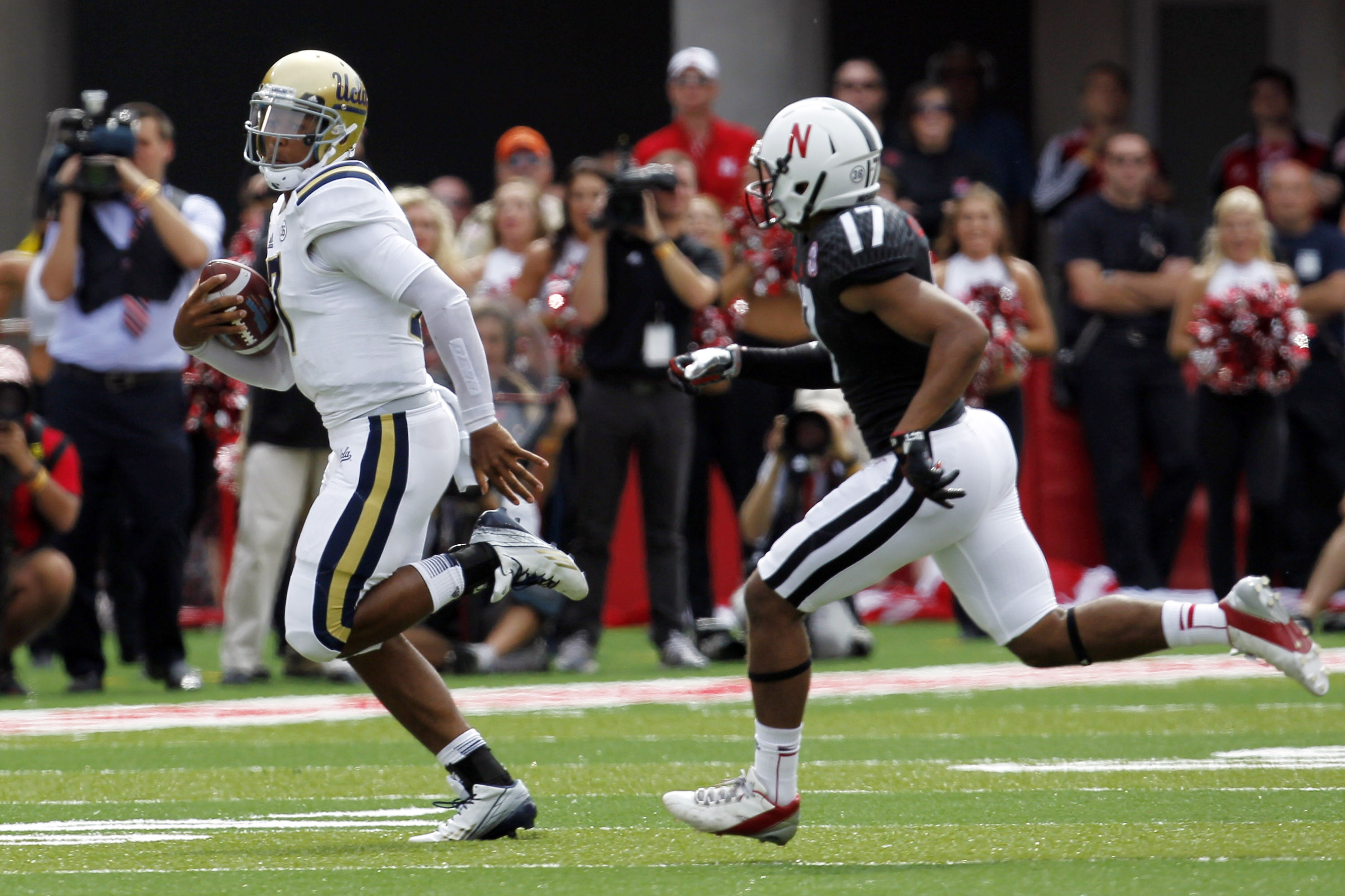 The difference in the game.  Brett Hundley scortched the Blackshirts.