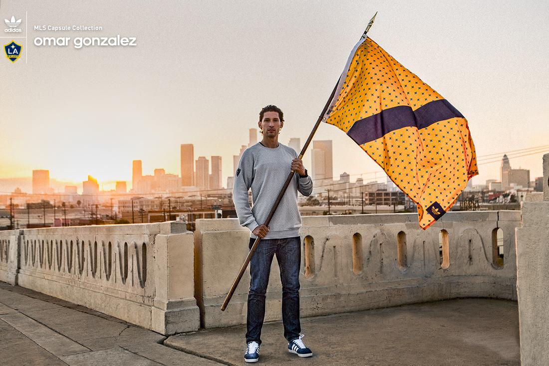 Omar Gonzalez sporting the new LA Galaxy adidas MLS Capsule Collection