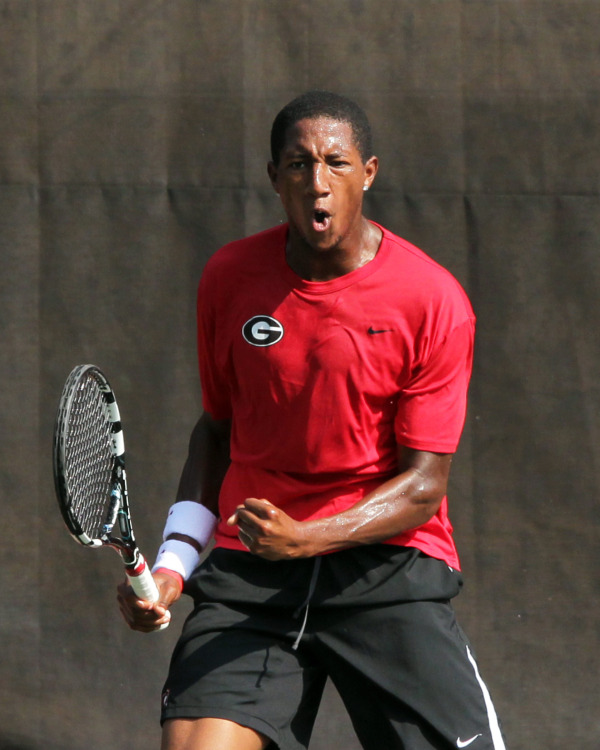 Nathan Pasha, 2013 Southern Intercollegiate singles champion (photo by Bill Kallenberg)