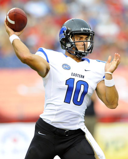 Eastern Illinois quarterback Jimmy Garoppolo passes the ball during the first half against San Diego State.