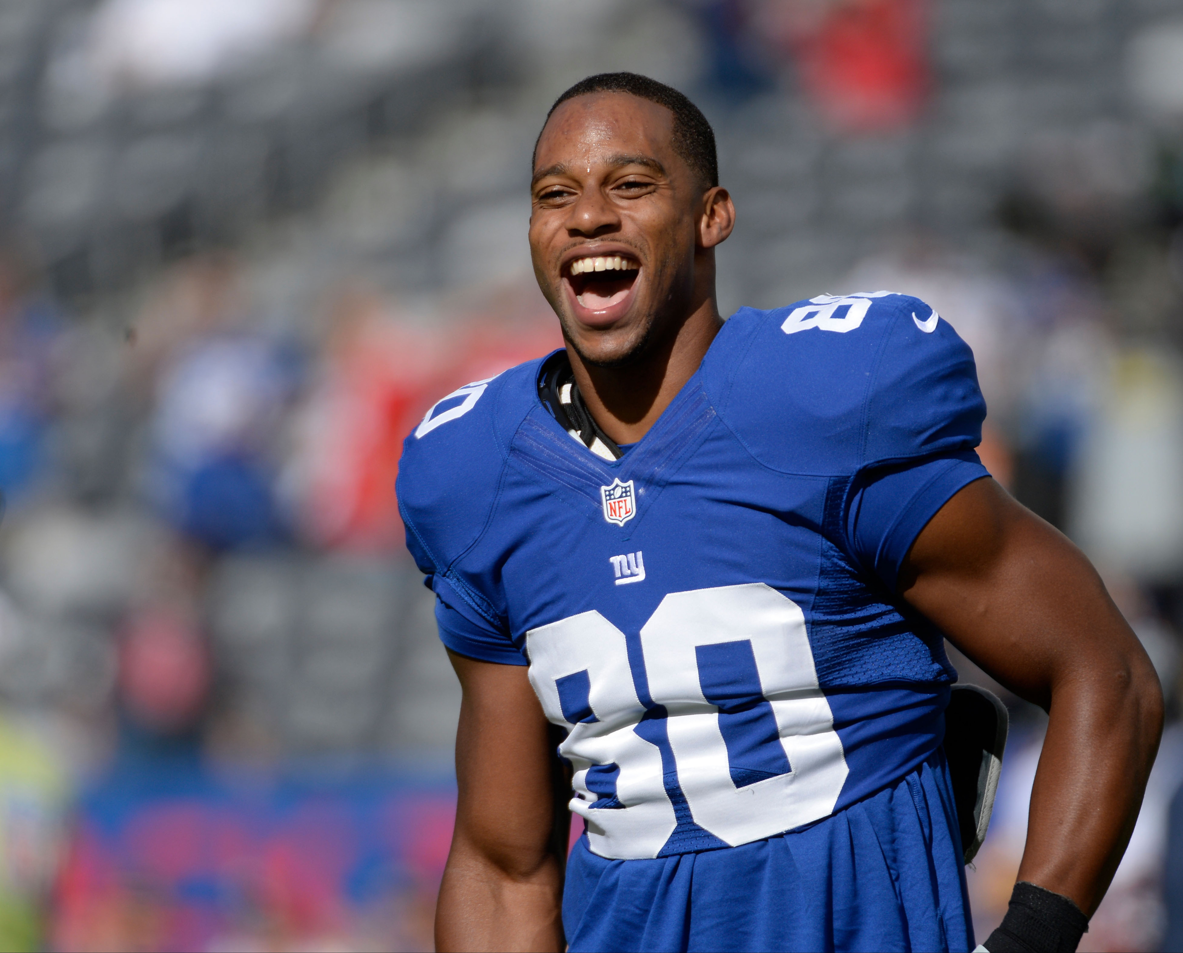 Will Victor Cruz and the Giants be smiling after Sunday's game?