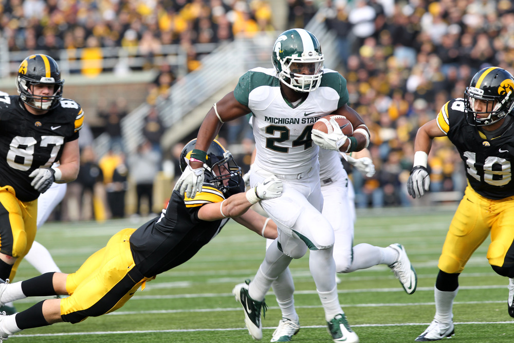 Michigan State's Le'Veon Bell is the Big Ten's second-leading rusher with 123 yards per game.