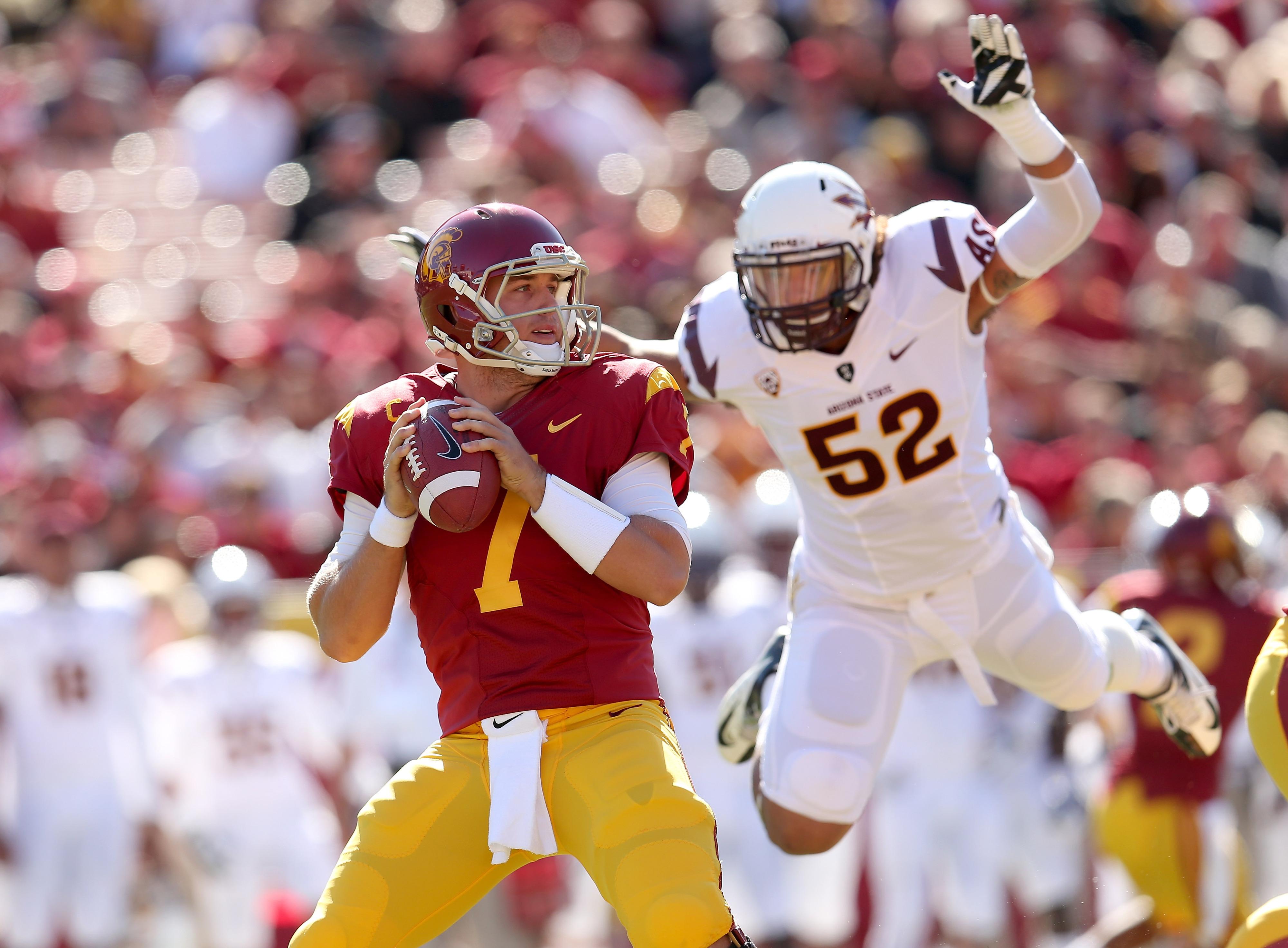Hopefully Carl Bradford gets some chances to hit the USC quarterback.