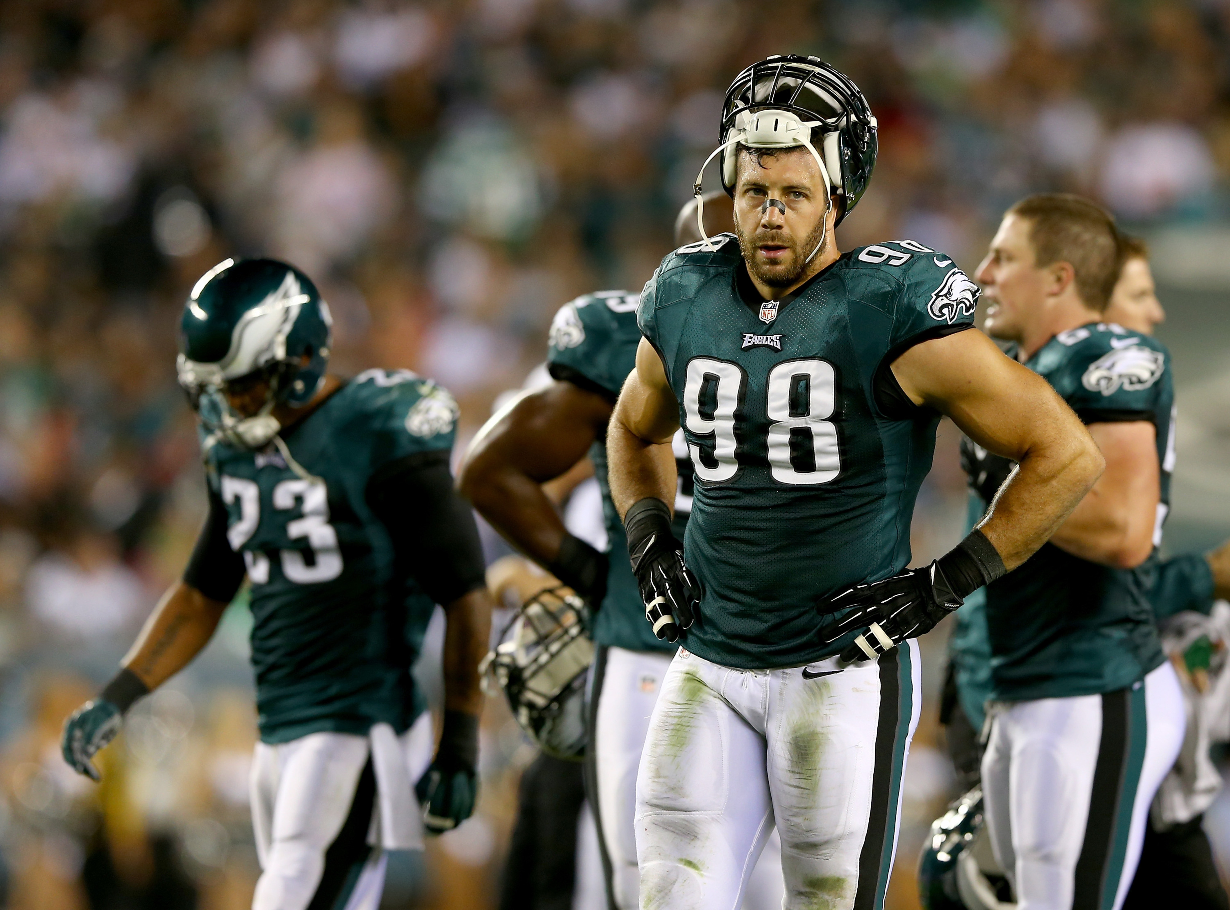 Still feels weird to see Connor Barwin in a different jersey.