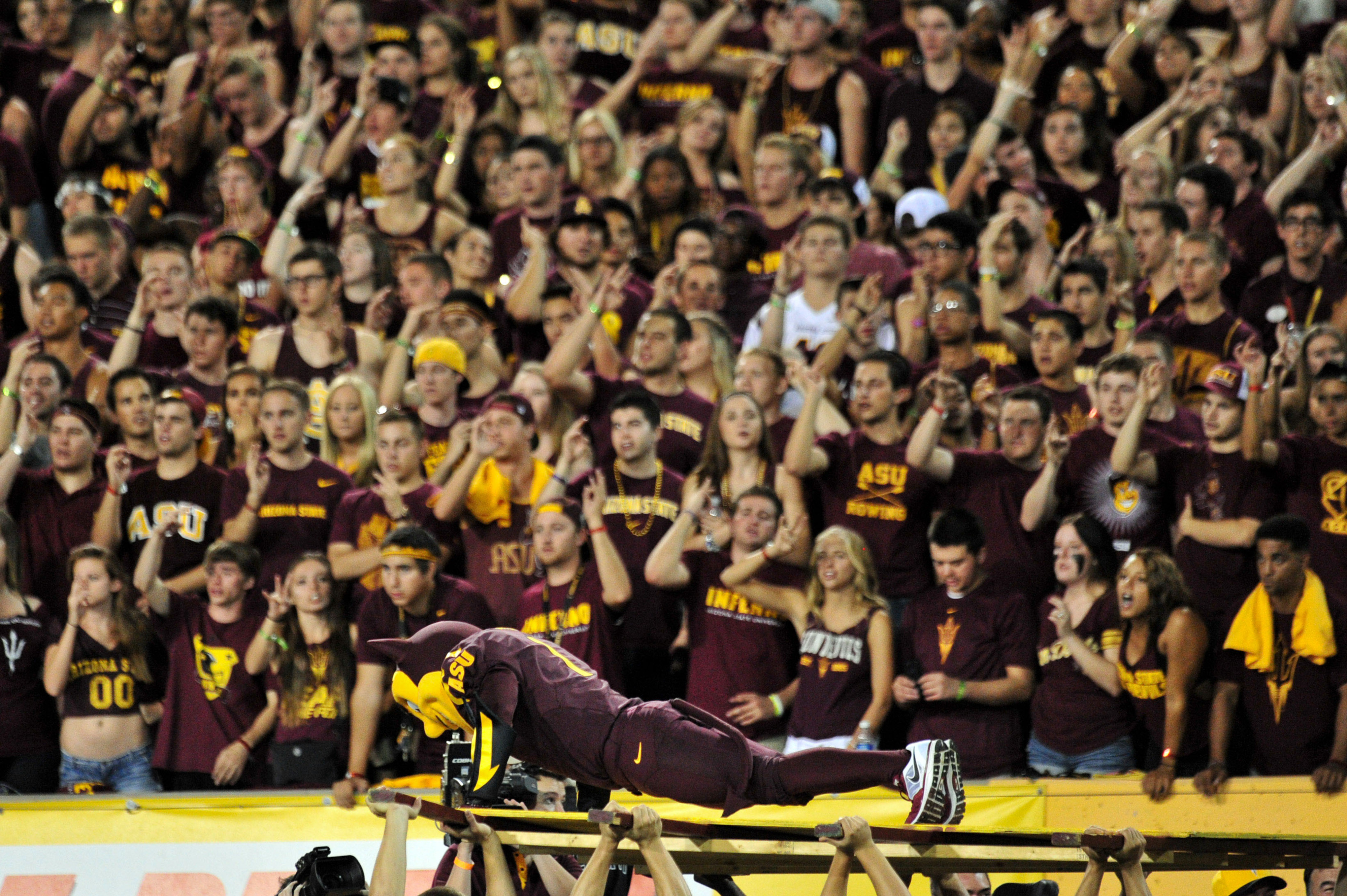 Sparky got a workout in on Saturday night.