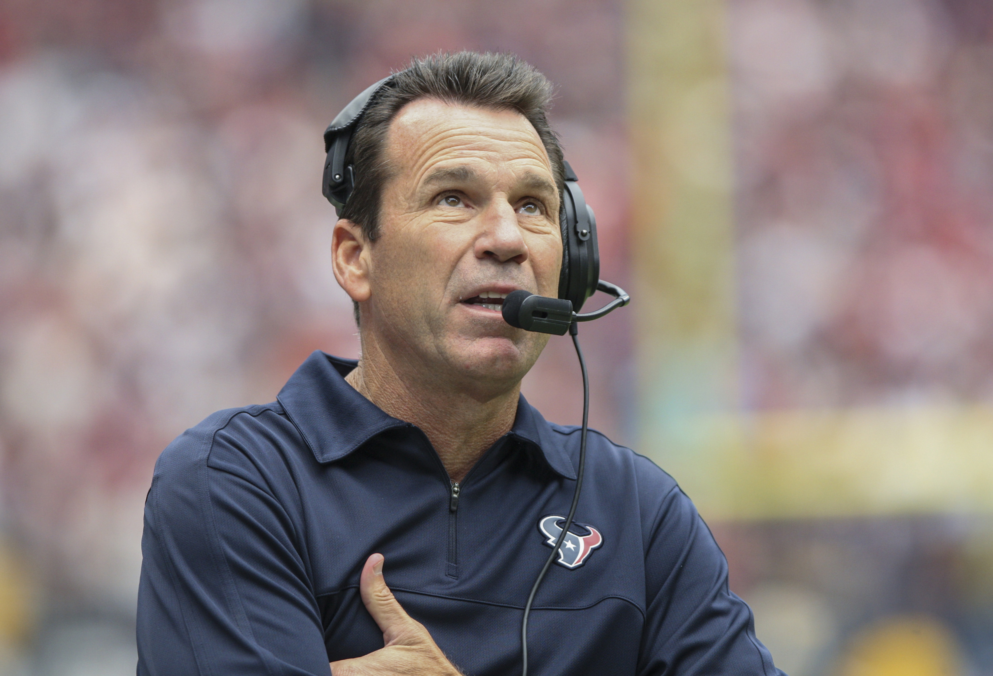 Say this for Gary Kubiak:  He protects his players.