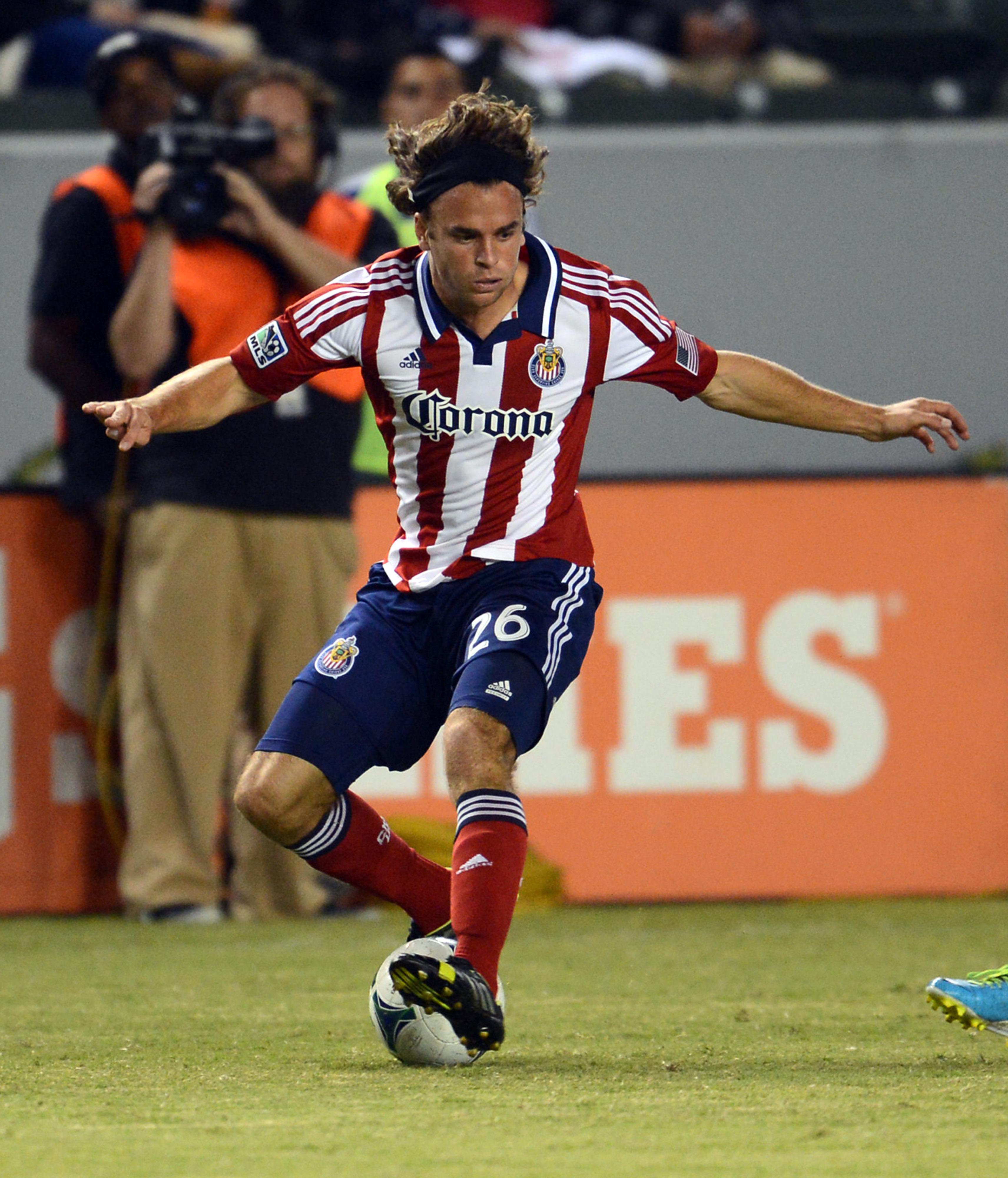 Matthew Fondy's golden locks found the back of the net in a Chivas USA Reserves match
