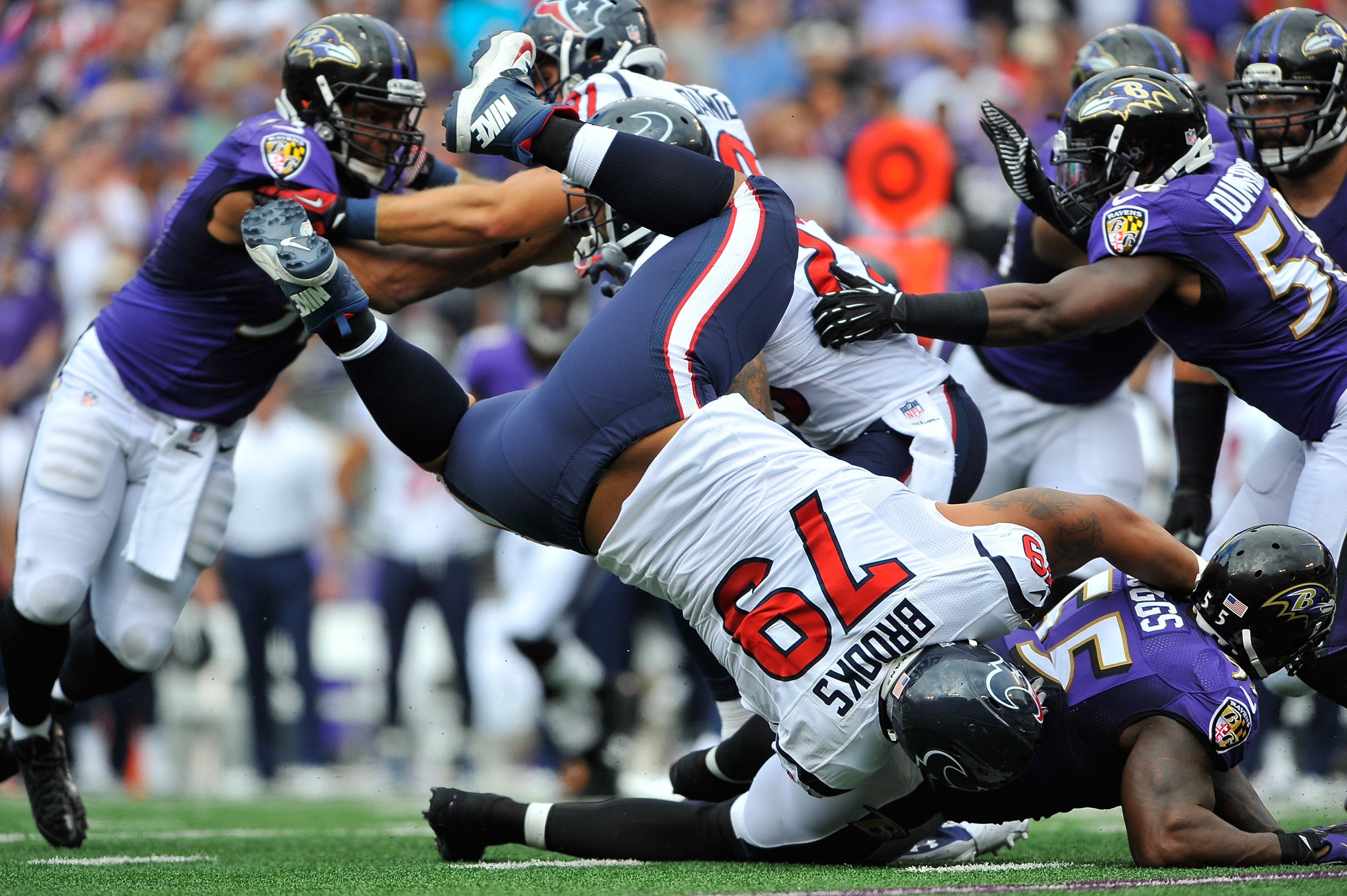 Note:  Brandon Brooks was not injured on this play.