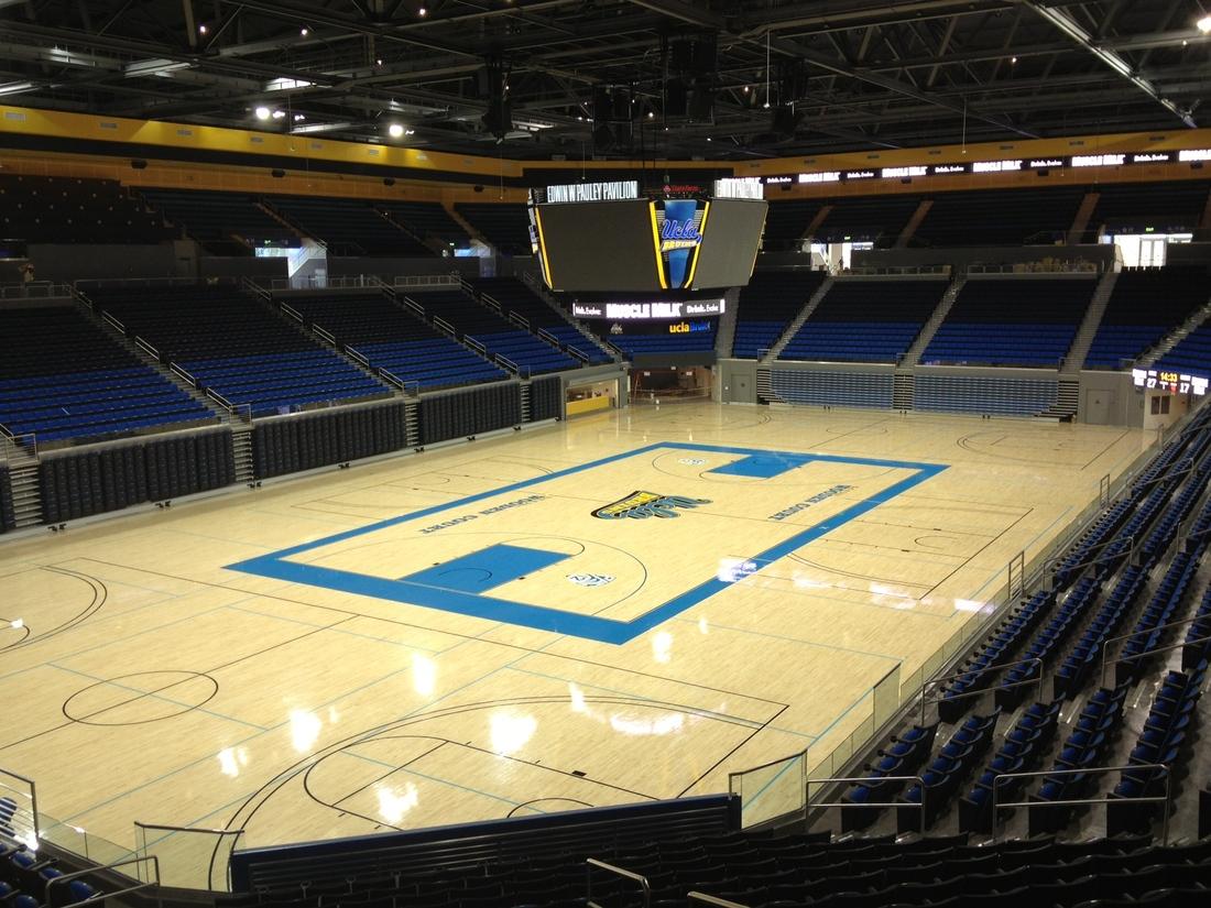 Center court shot of renovated Pauley Pavilion
