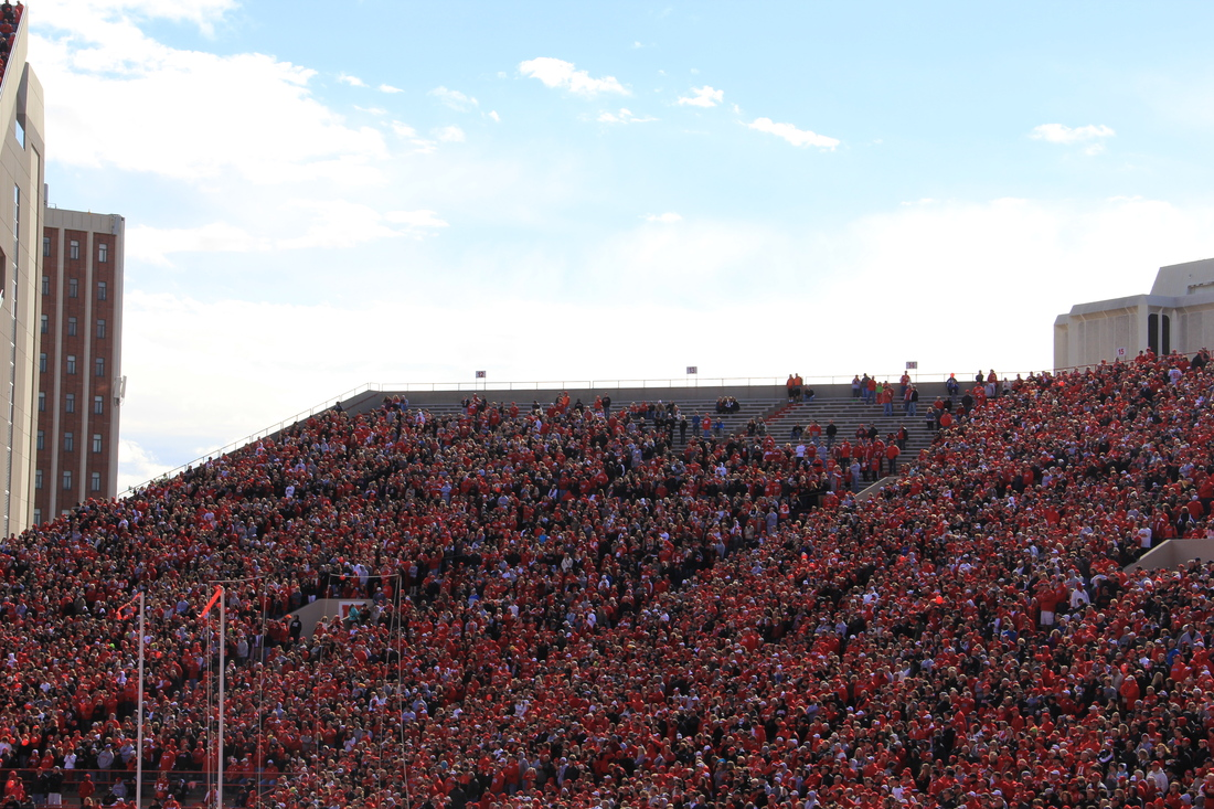The Student Section Before The Game. LOOK AT THOSE EMPTY SEATS.