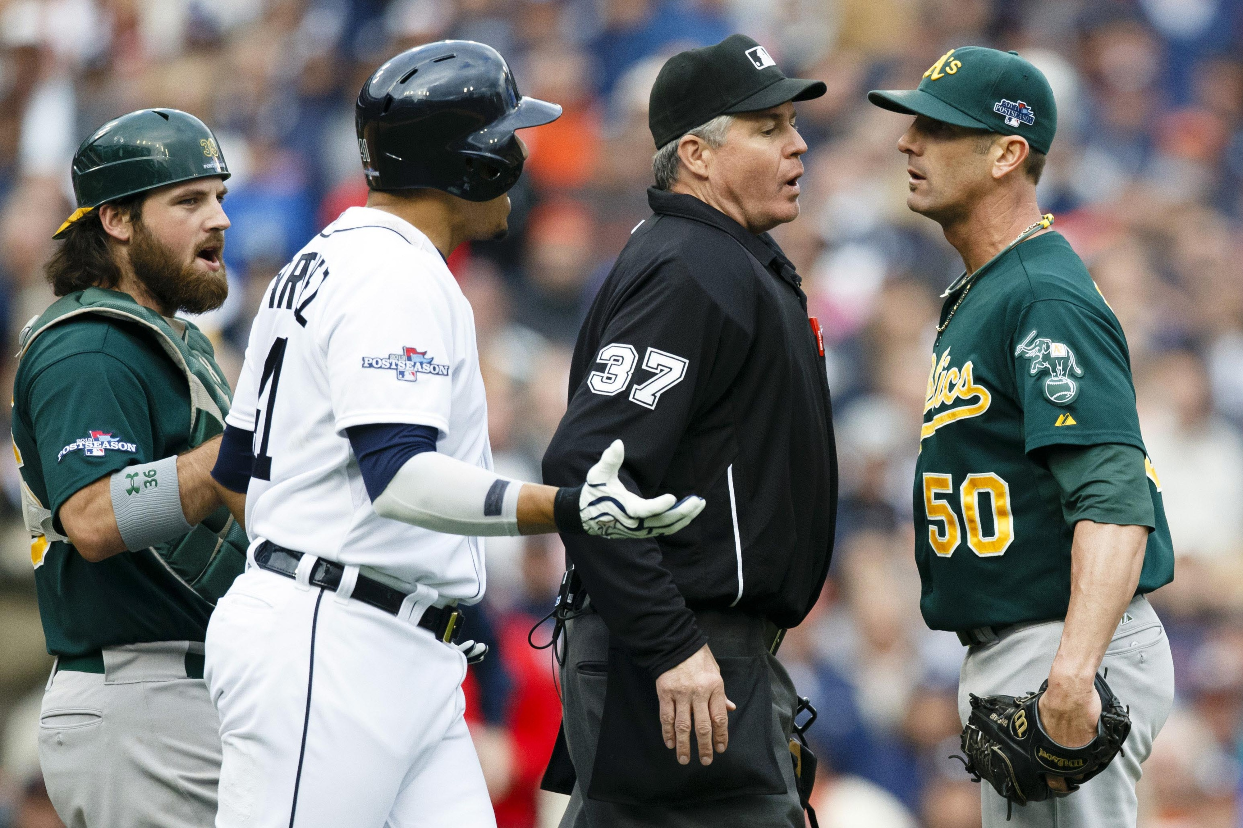 Keep that chip on your shoulder today, A's.