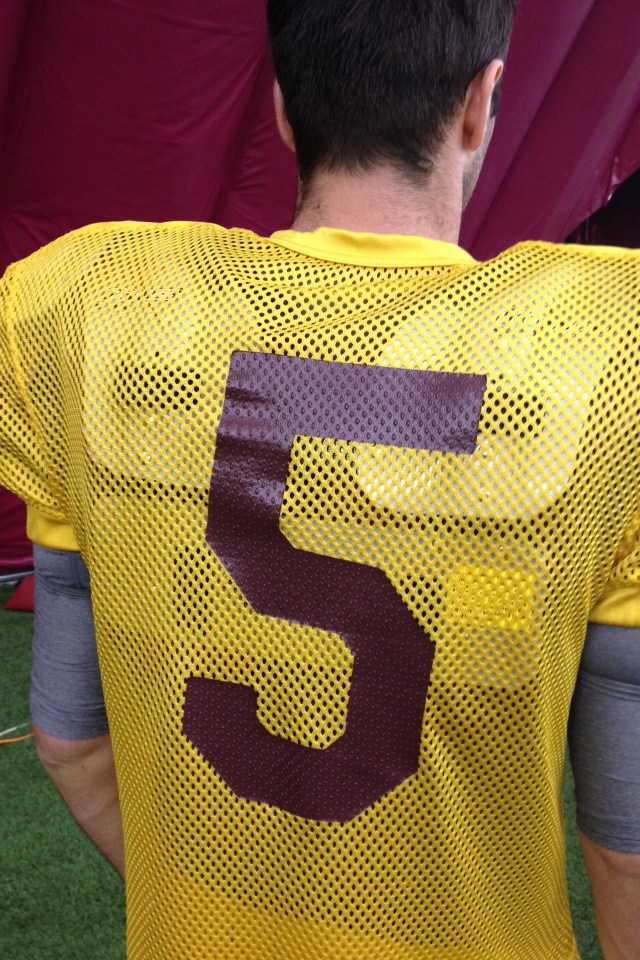 Taylor Cohan is wearing Connor Wood's No. 5 jersey this week.