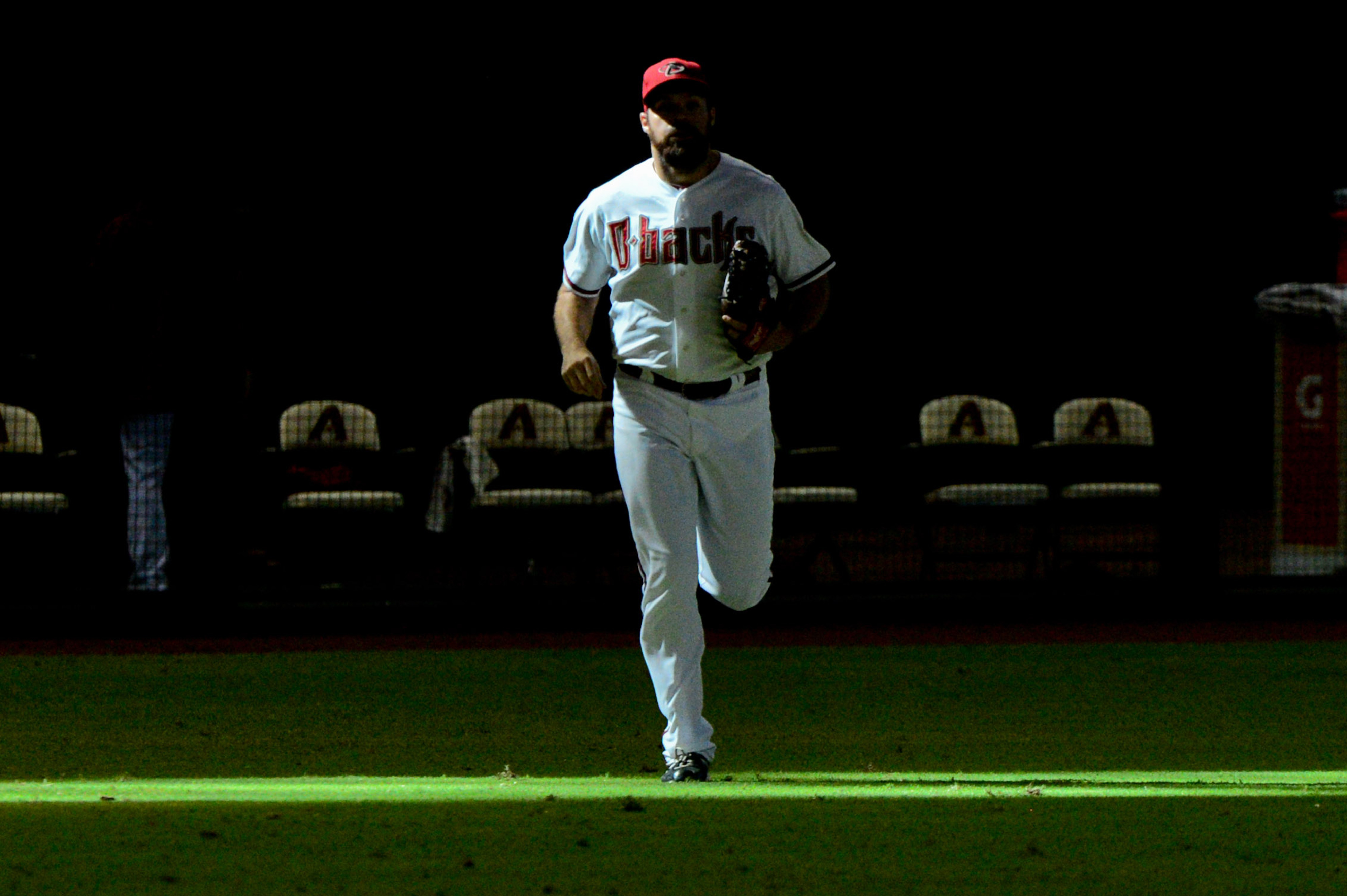 Josh Collmenter trots in from the bullpen. Must be extra innings.