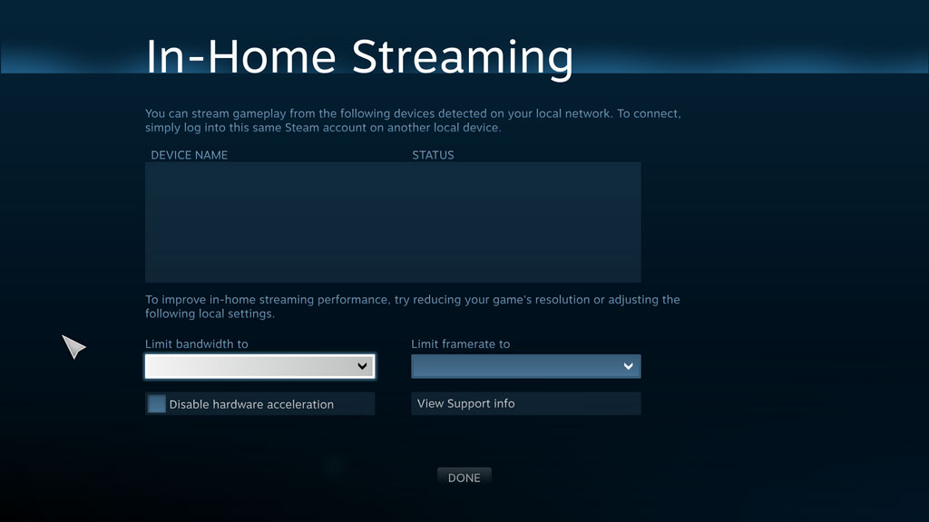 In-home streaming appears in Steam beta update
