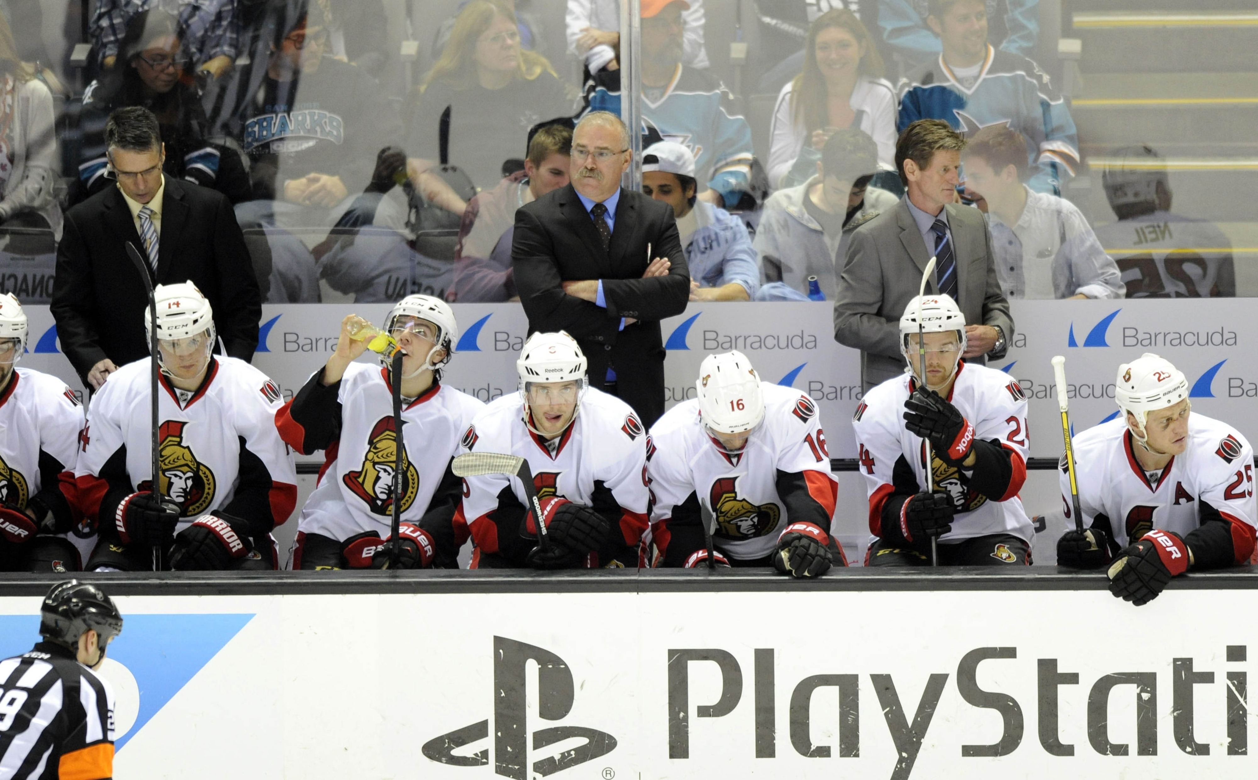 Paul MacLean's shoulder-rubbers haven't left their holsters