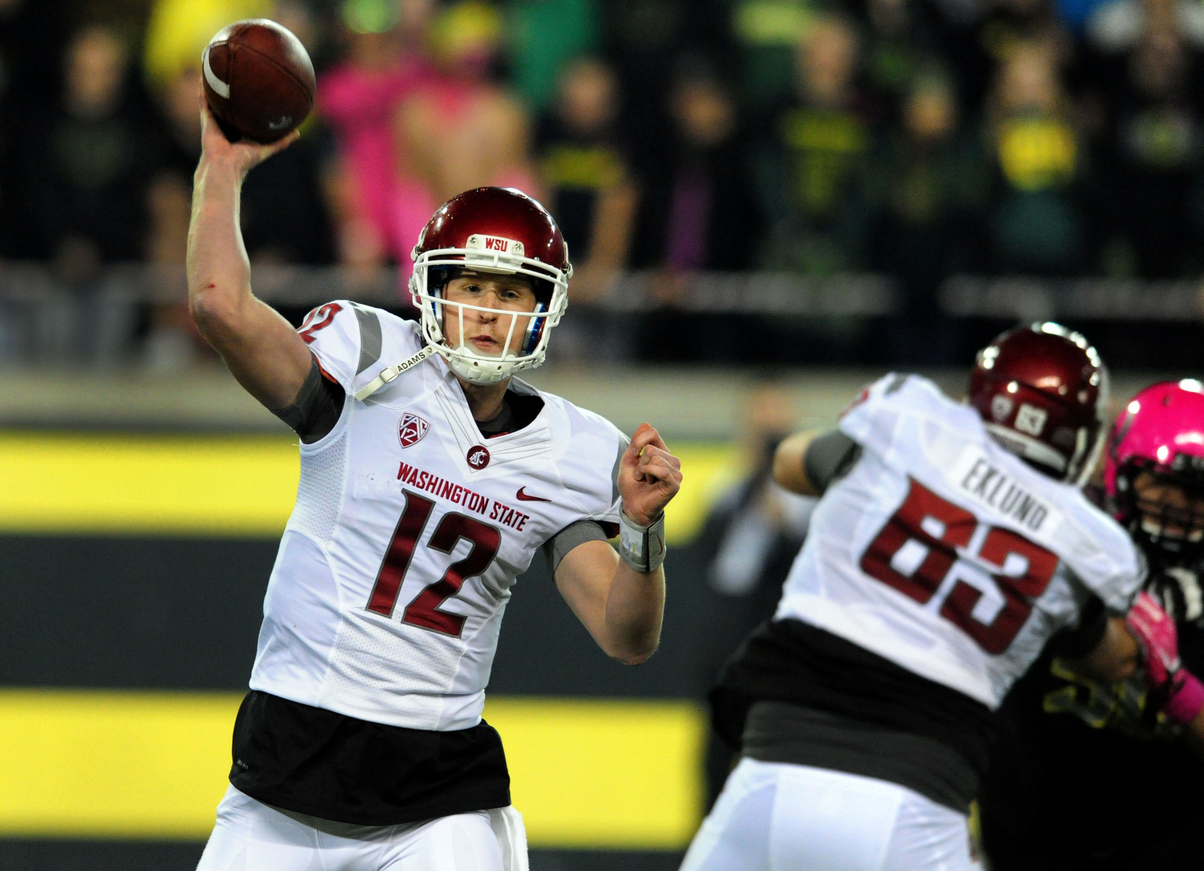 Connor Halliday threw the ball an NCAA-record 89 times. Nick Aliotti was not pleased.