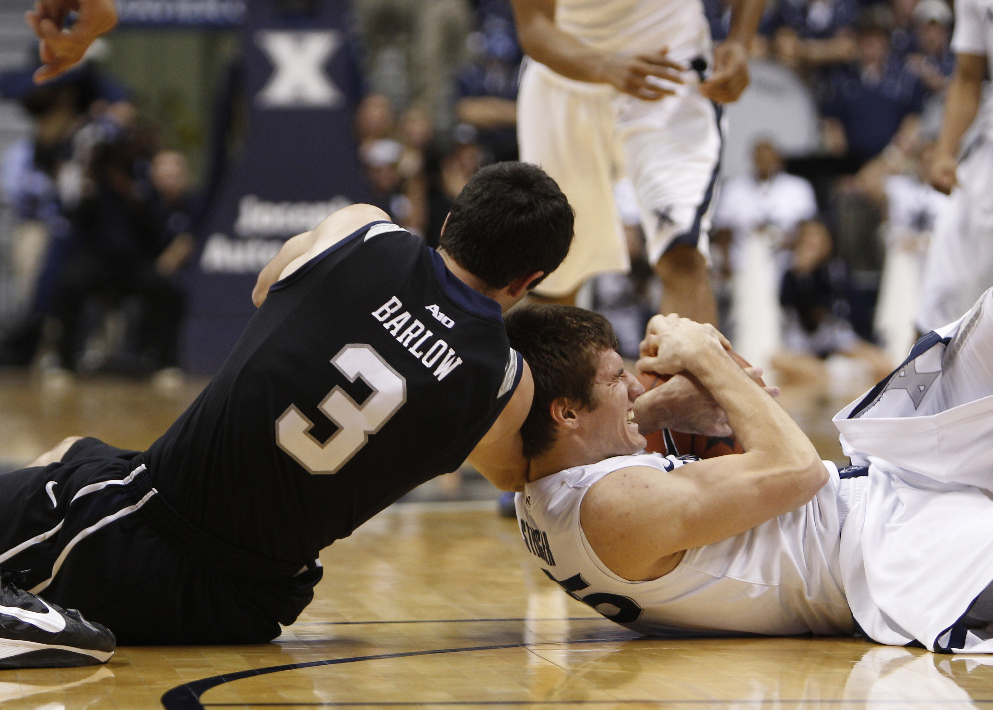 When Erik Stenger gets playing time, bodies are sure to hit the floor.