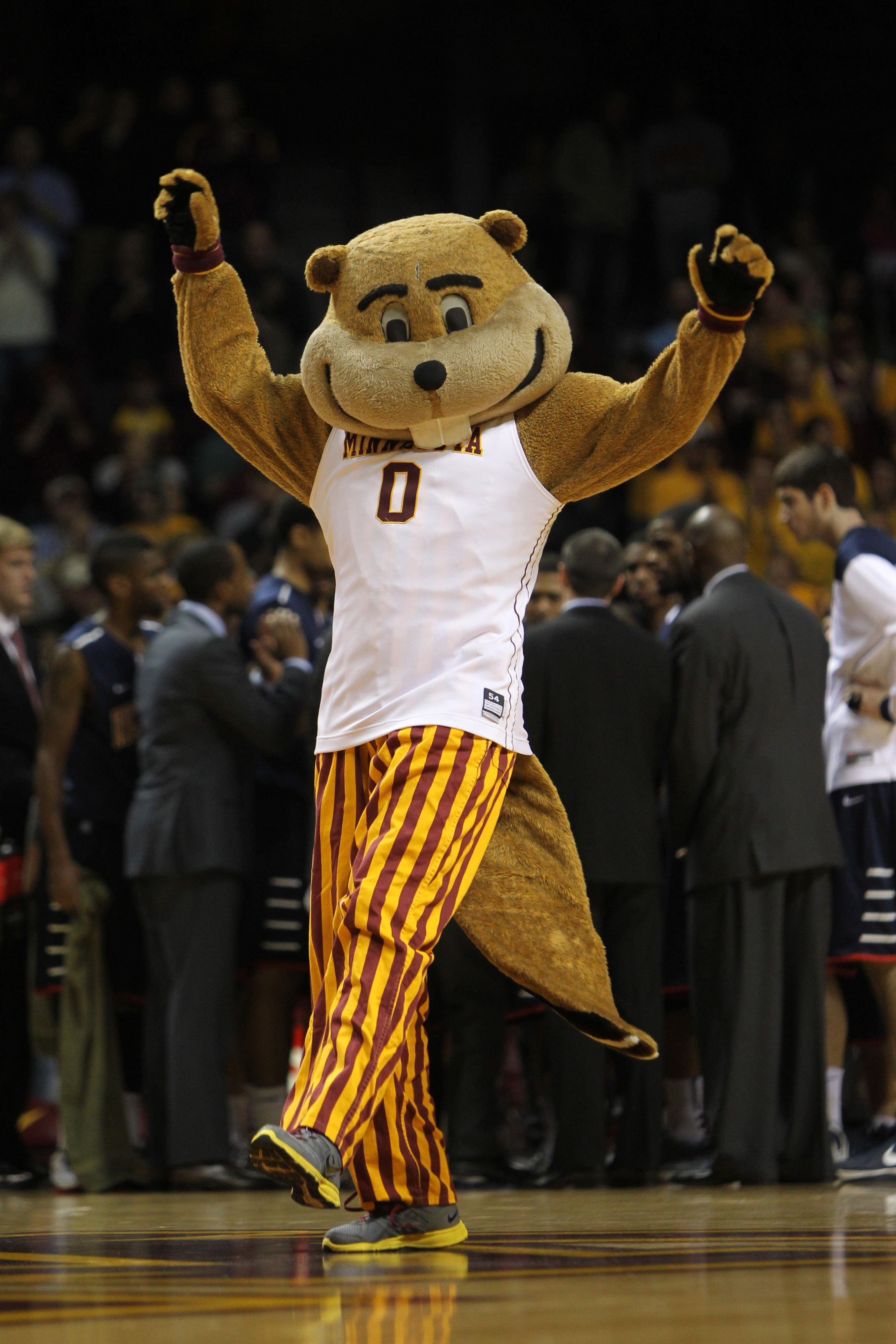 IT'S NOT THE BASKETBALL GOPHER, DAMMIT. IT'S THE SAME GOPHER WITH DIFFERENT CLOTHES! KILL IT! KILL IT BADLY!