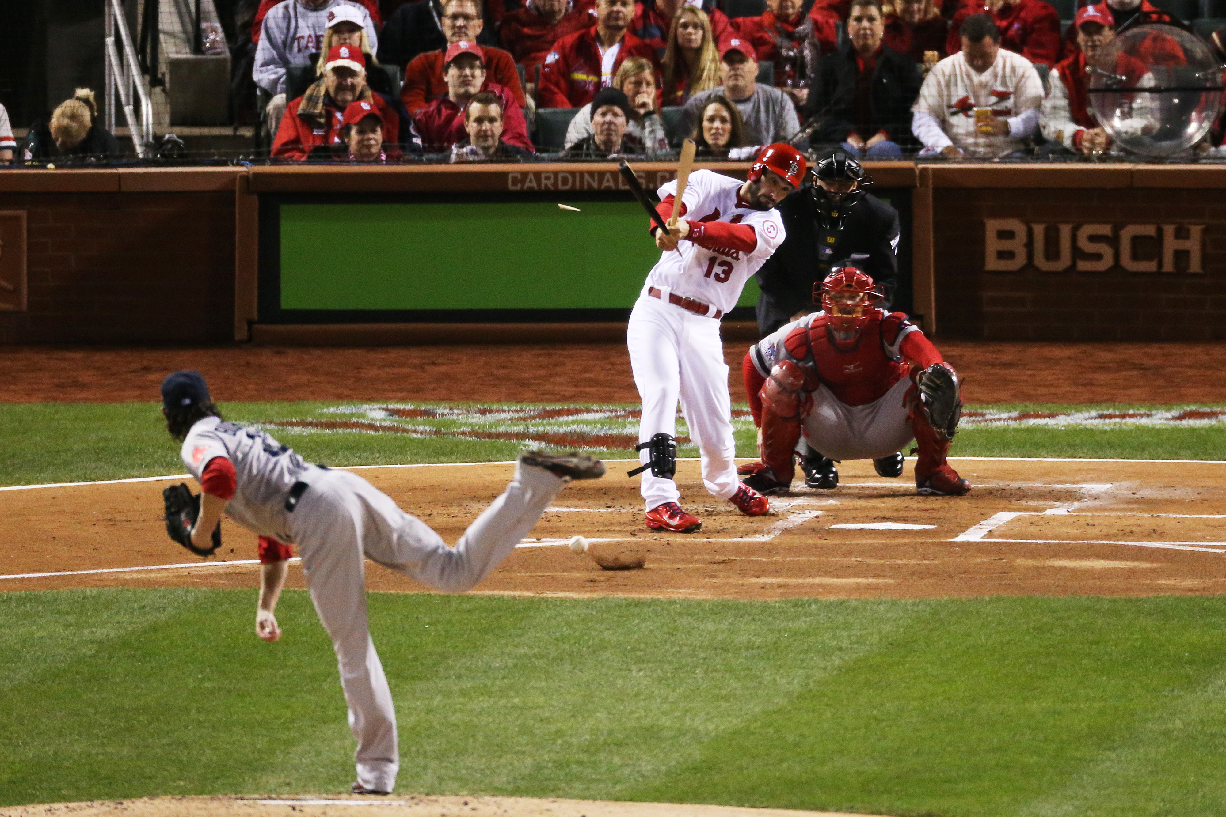 Matt Carpenter almost caught with his pants down