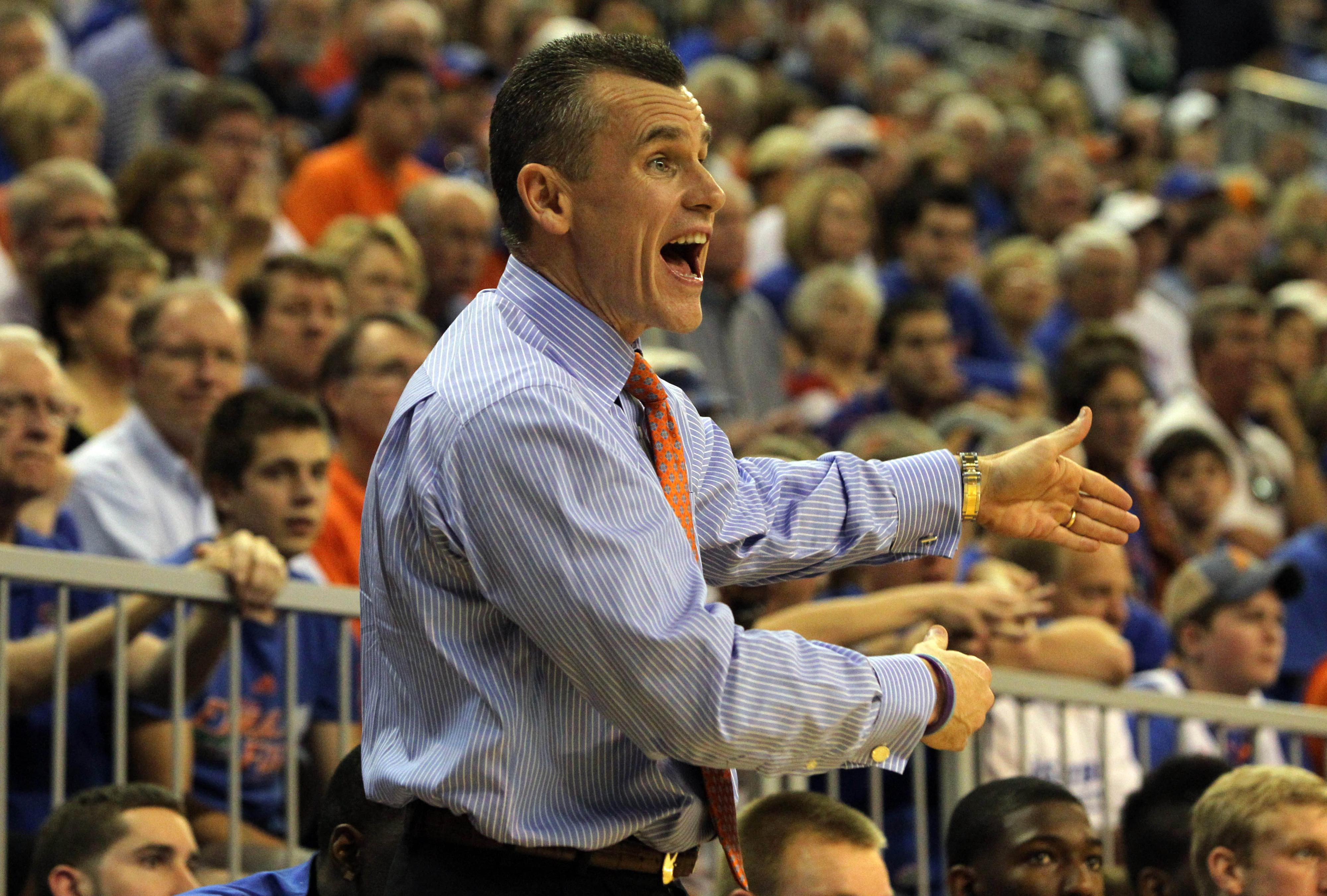 This is as close as we get to Billy Donovan smiling in our photo tool.