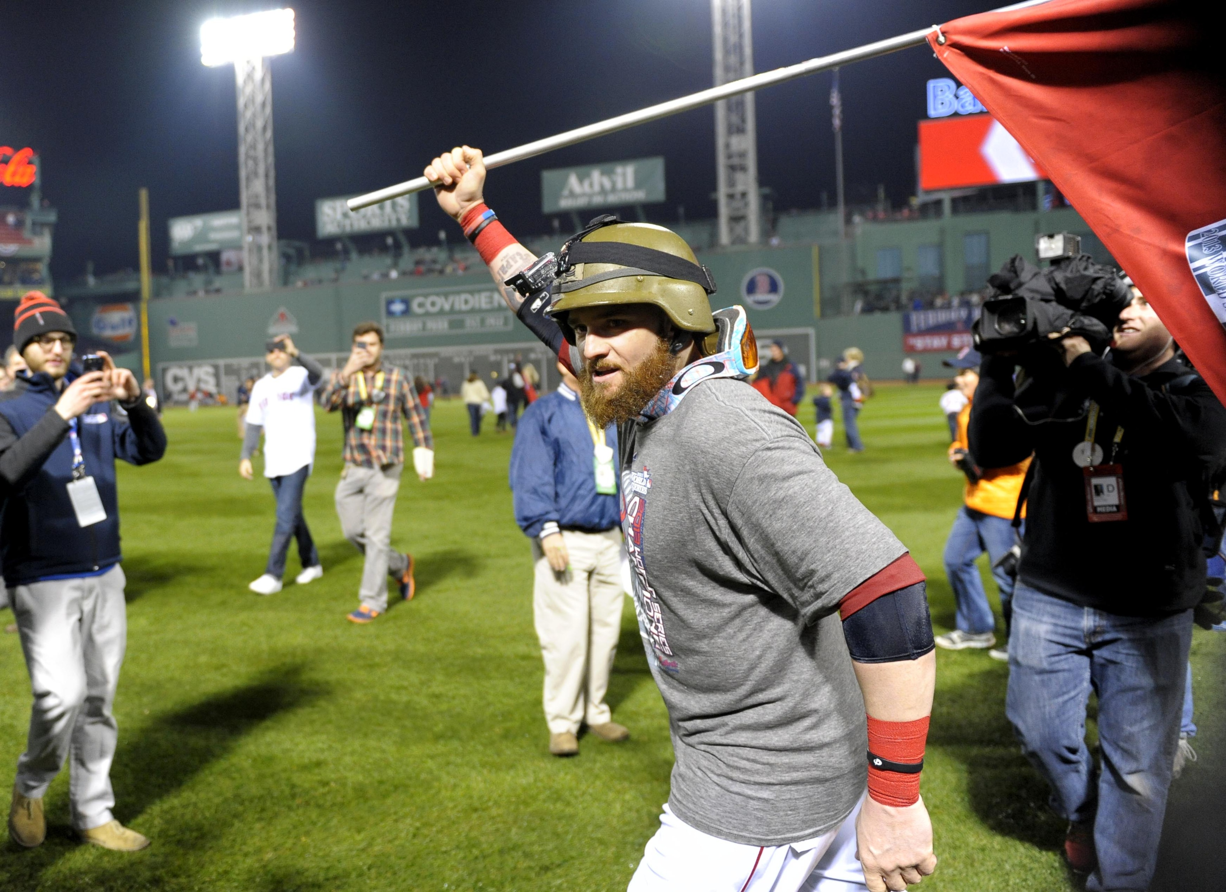 The world-champion Boston Red Sox: Getting used to getting used to it