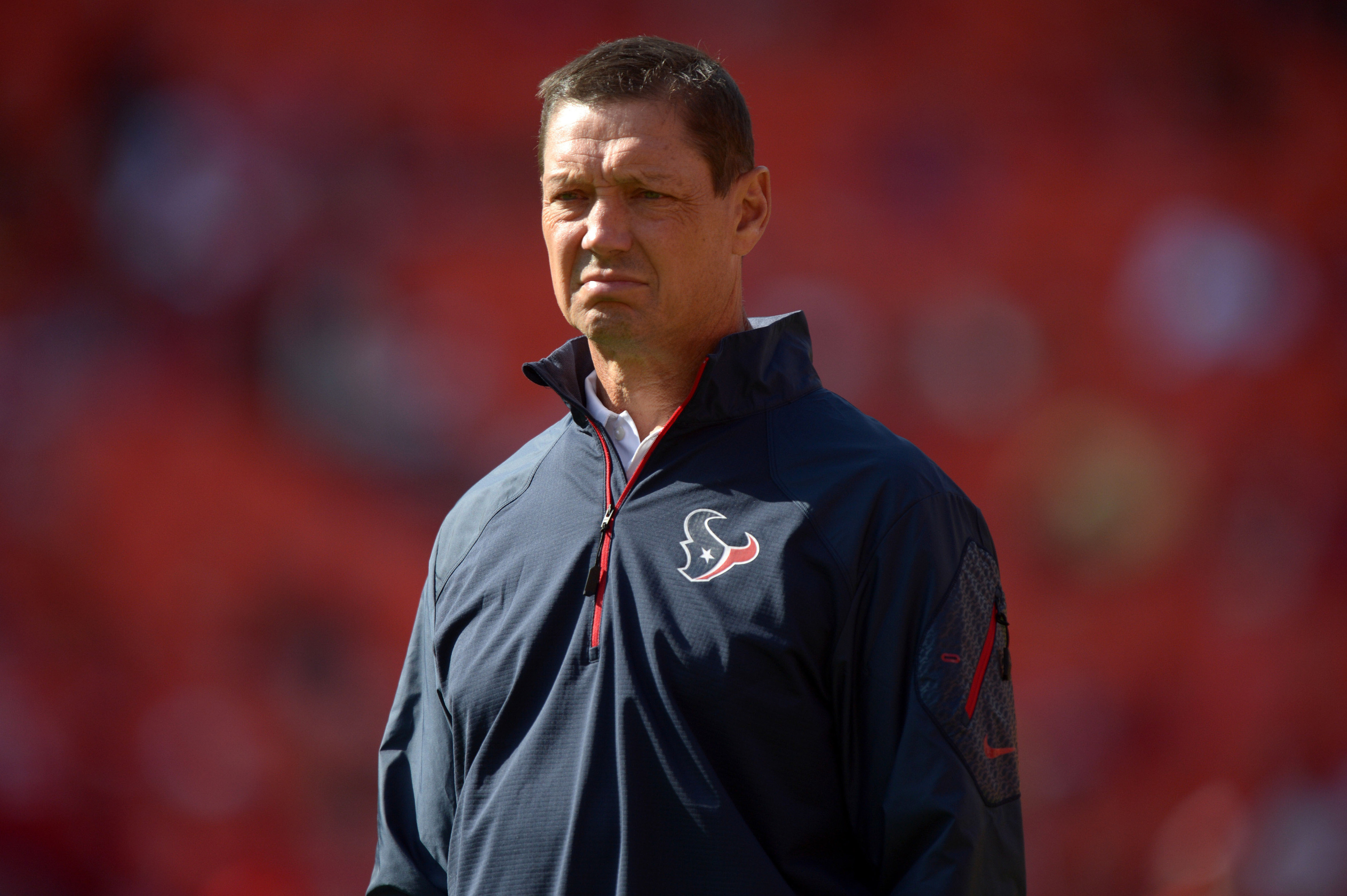 Rick Dennison has lots of time to watch the game, what with Gary Kubiak doing Dennison's job and all.