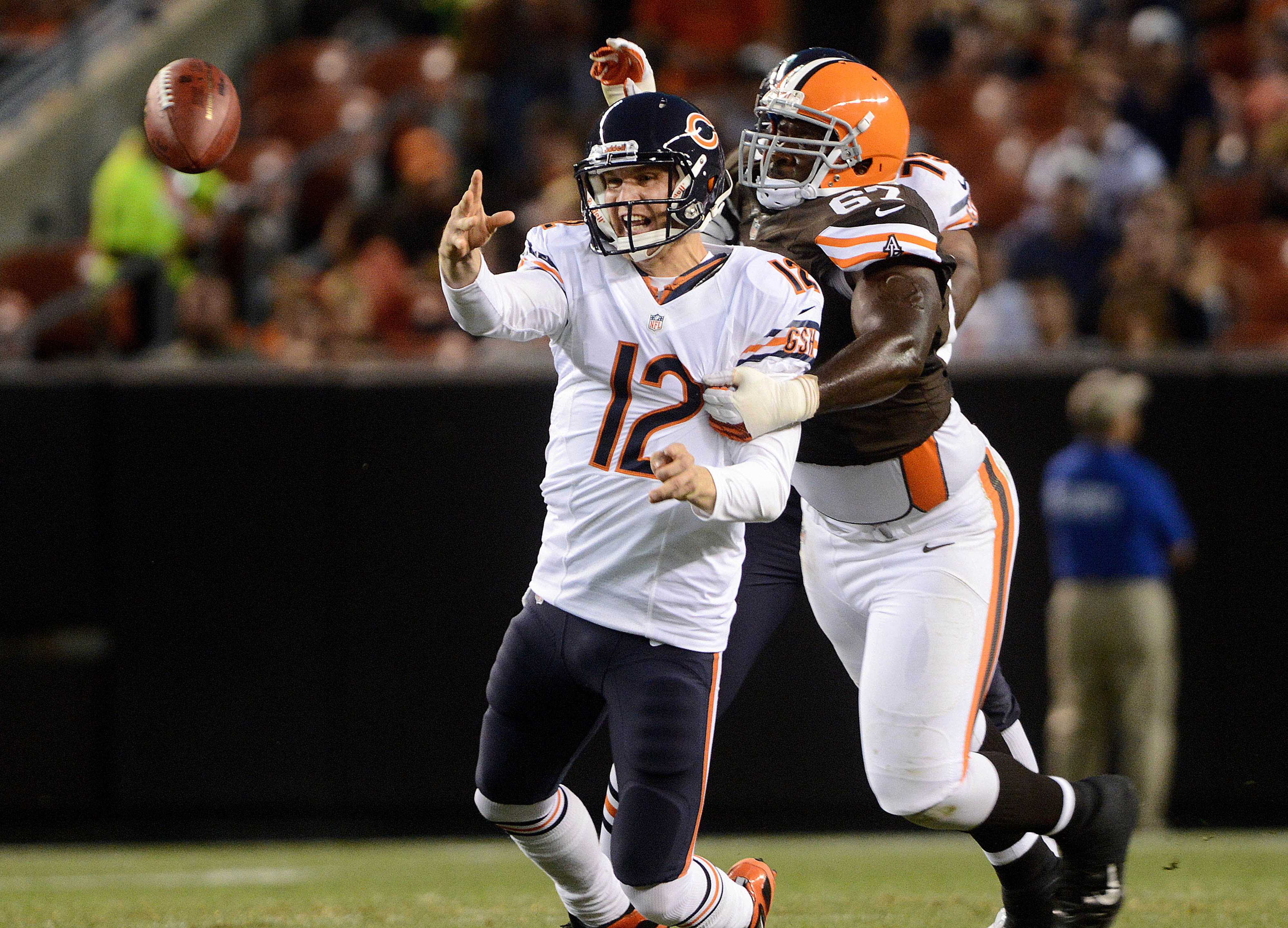 Pictured:  Josh McCown, just before he's torn limb from limb.
