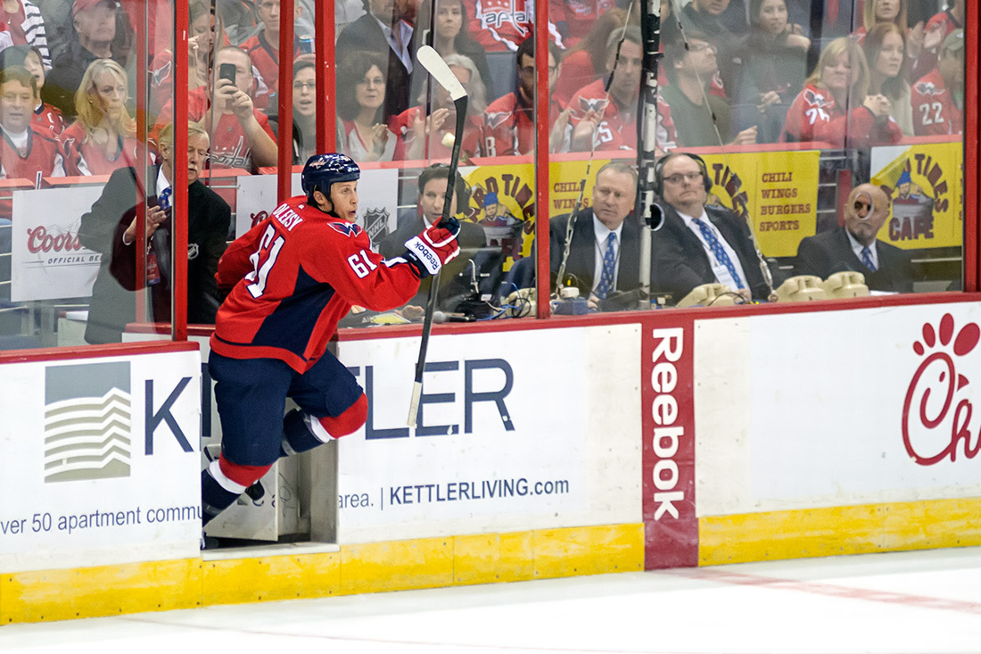 This pic wasn't taken in the moments following the goal discussed below - Steve Oleksy could take his time after this one, unfortunately.