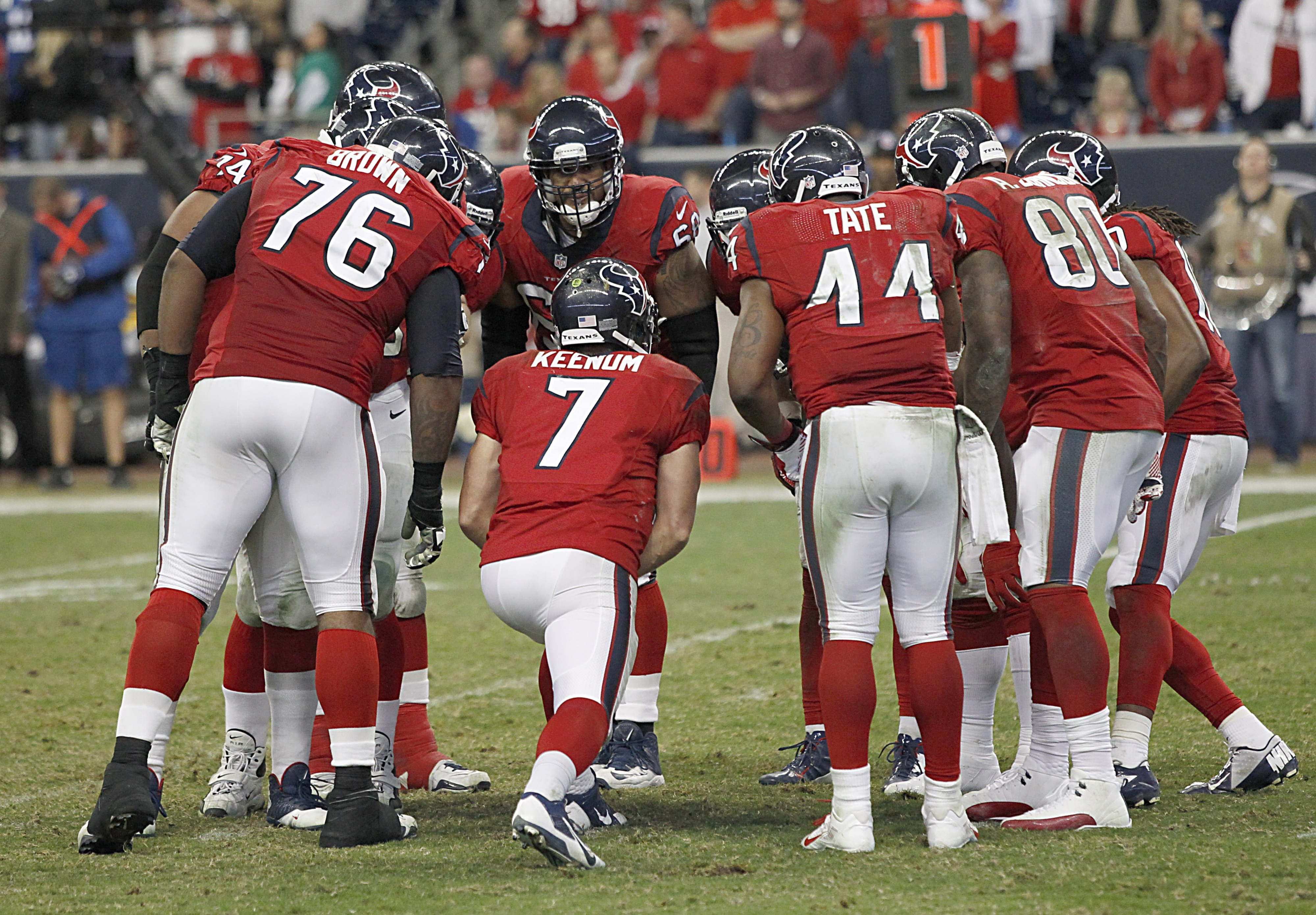 Keenum is after the hearts and minds of all Texans fans.