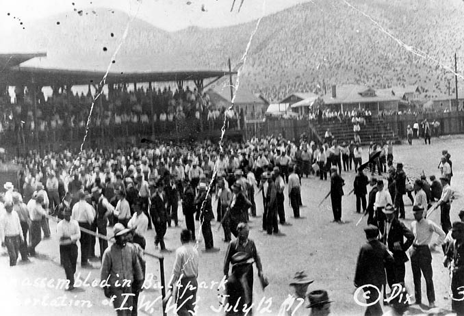 Warren Ballpark during the Bisbee Deportation in 1917.